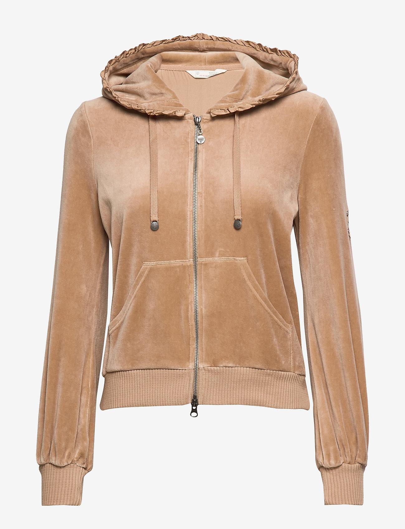 ODD MOLLY - Velouragenius Hood Jacket - pulls à capuche - chocolate cream - 1