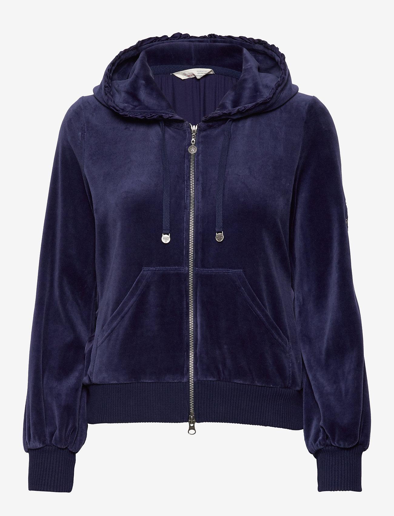 ODD MOLLY - Velouragenius Hood Jacket - pulls à capuche - night sky blue - 1