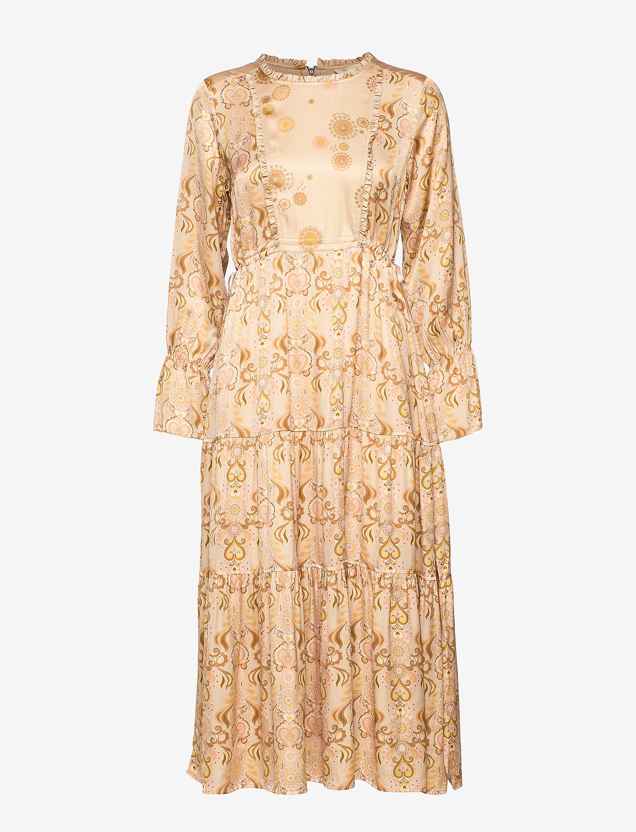 ODD MOLLY - My Kind Of Beautiful Dress - robes midi - light taupe - 1
