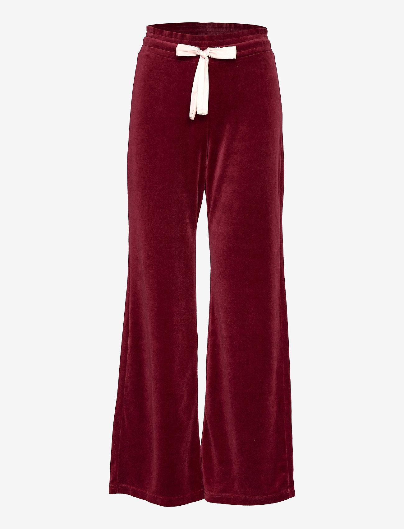 ODD MOLLY - Marion Pants - sweatpants - baked burgundy - 1