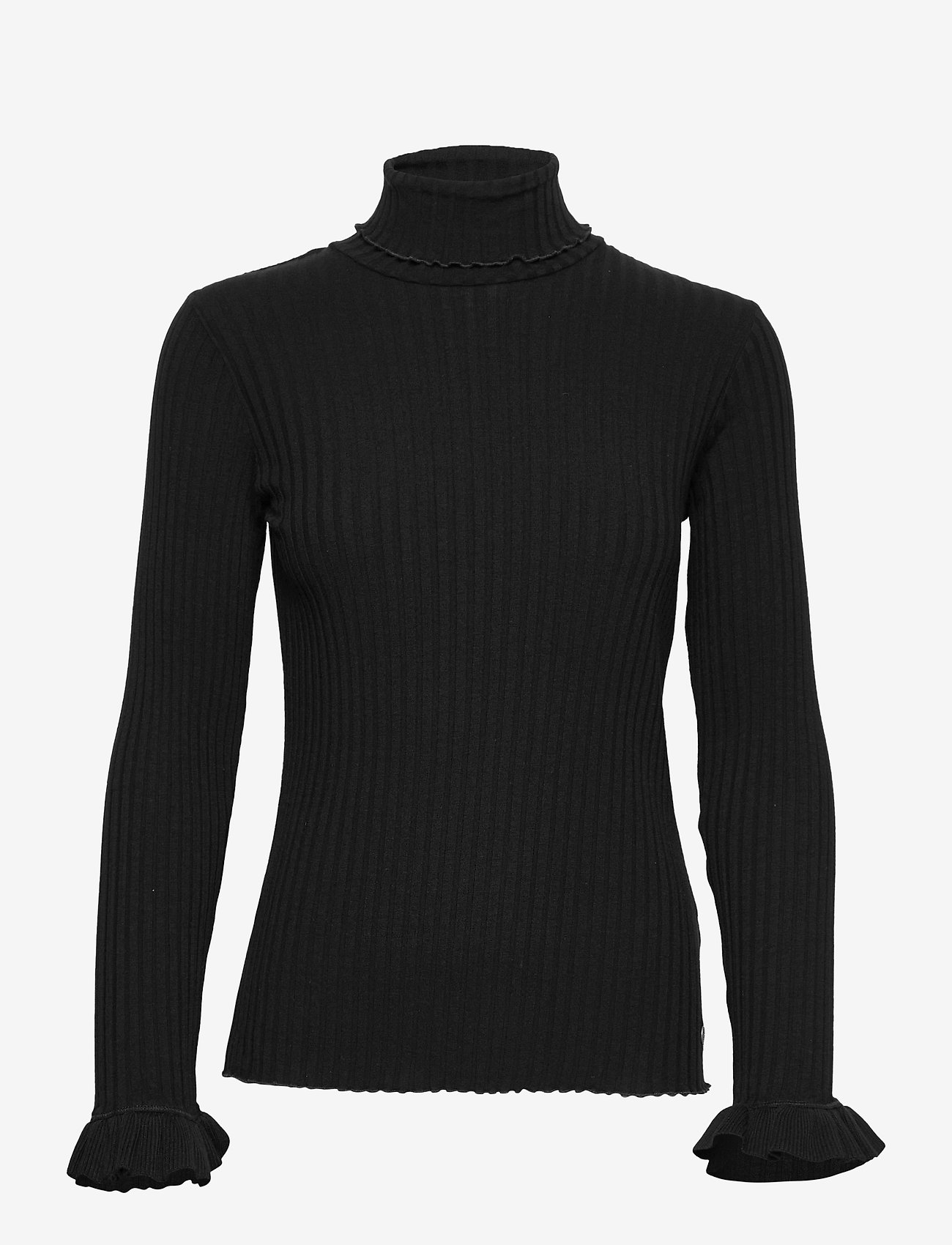 ODD MOLLY - Liza Turtle L/S Top - rullekraver - almost black - 1