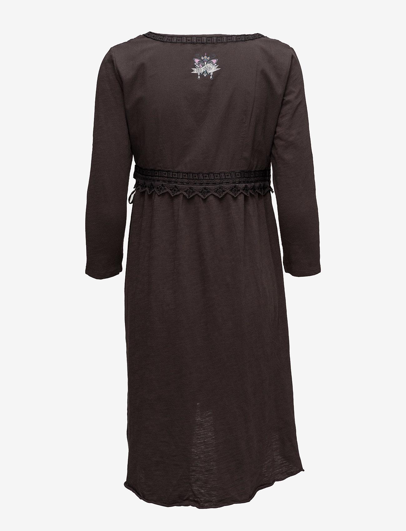 ODD MOLLY - get-a-way l/s dress - slå-om-kjoler - black lava - 1