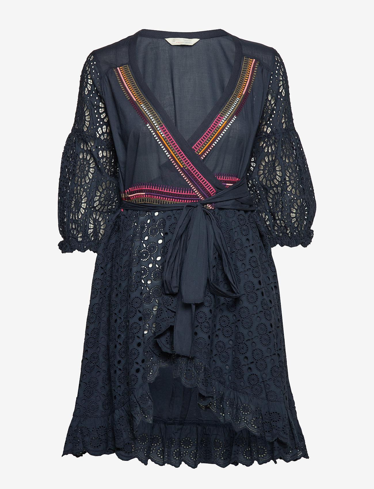 ODD MOLLY - two-step flow dress - lyhyet mekot - dark blue
