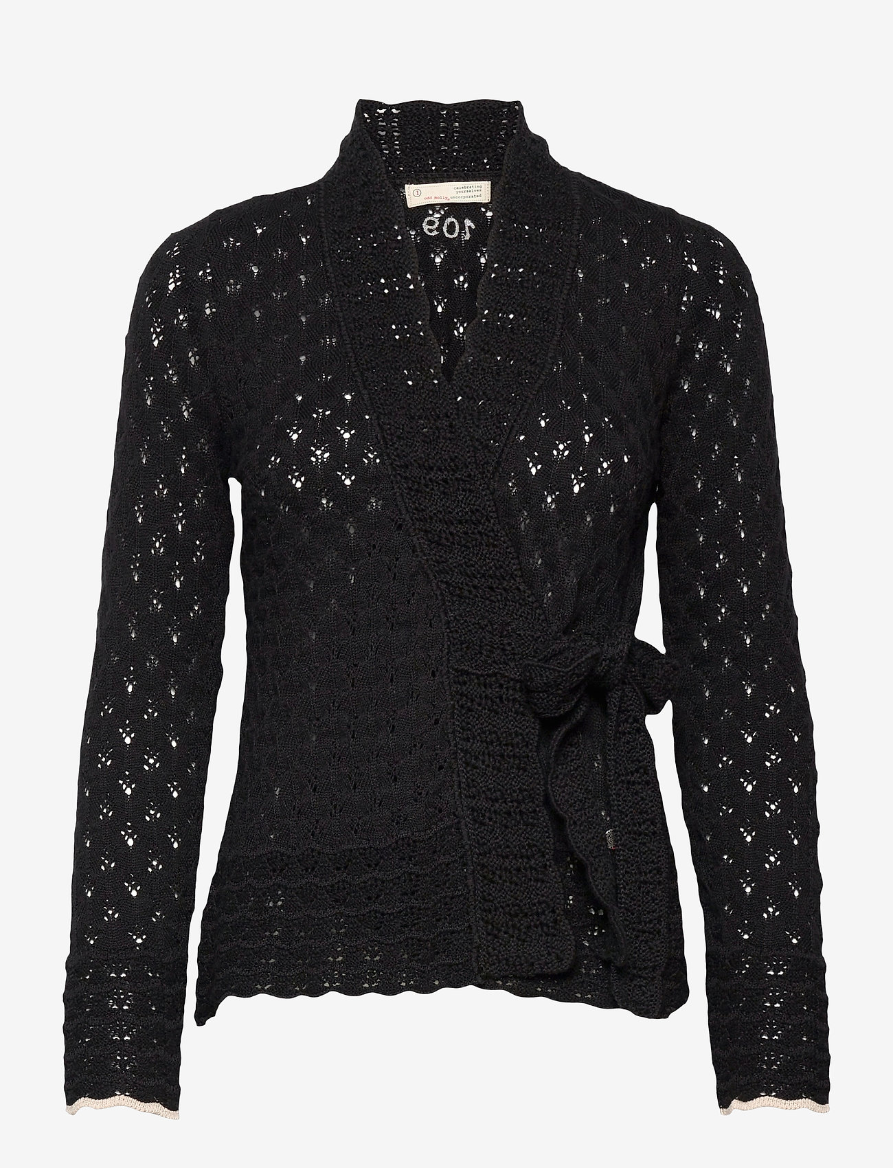 ODD MOLLY - Meryl Wrap Cardigan - cardigans - almost black - 1