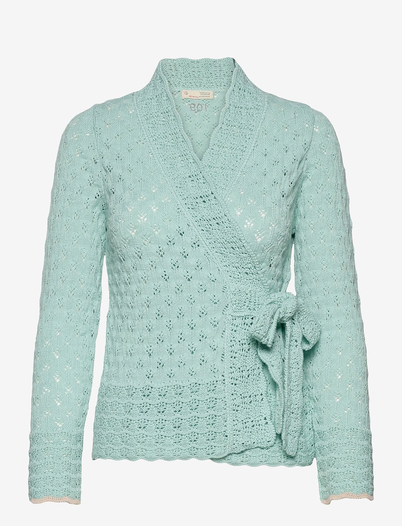 ODD MOLLY - Meryl Wrap Cardigan - cardigans - light aqua - 1