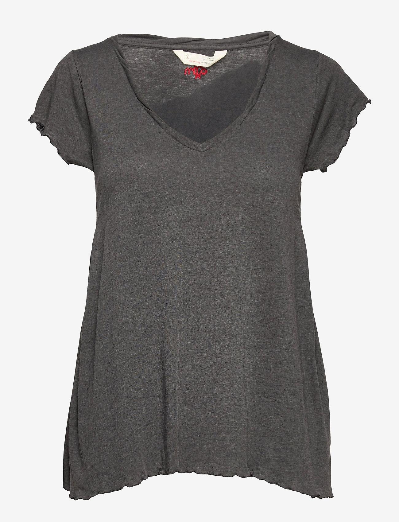 ODD MOLLY - Carole Top - t-shirts - asphalt - 1
