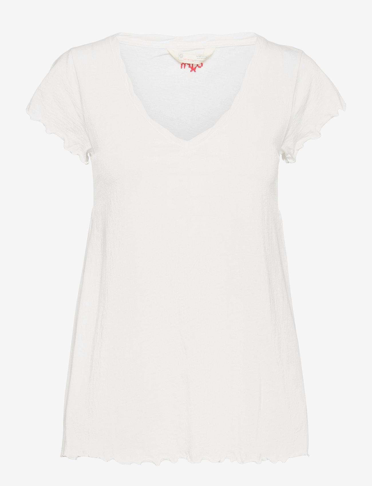 ODD MOLLY - Carole Top - t-shirts - light chalk - 1