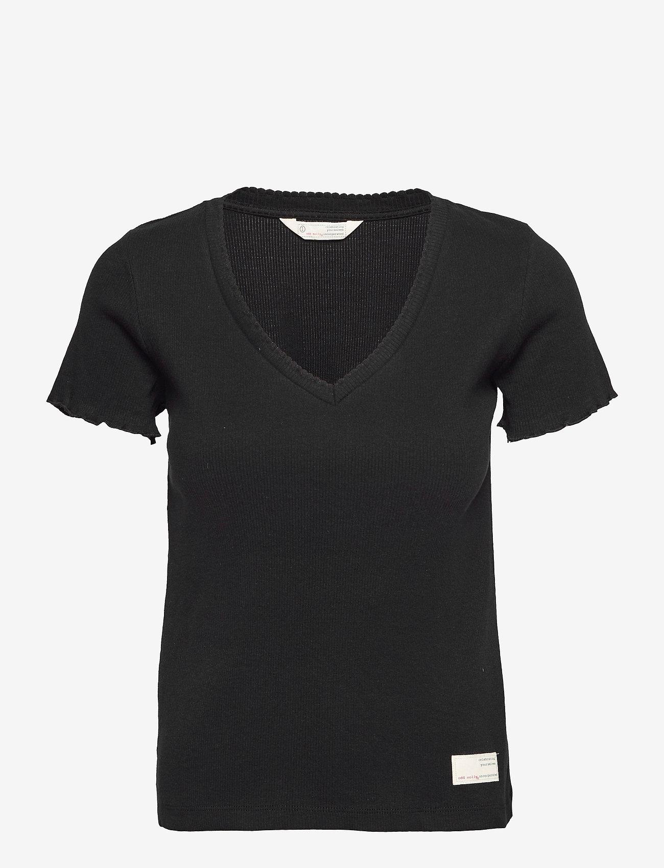 ODD MOLLY - Lynda Top - t-shirts - almost black - 1