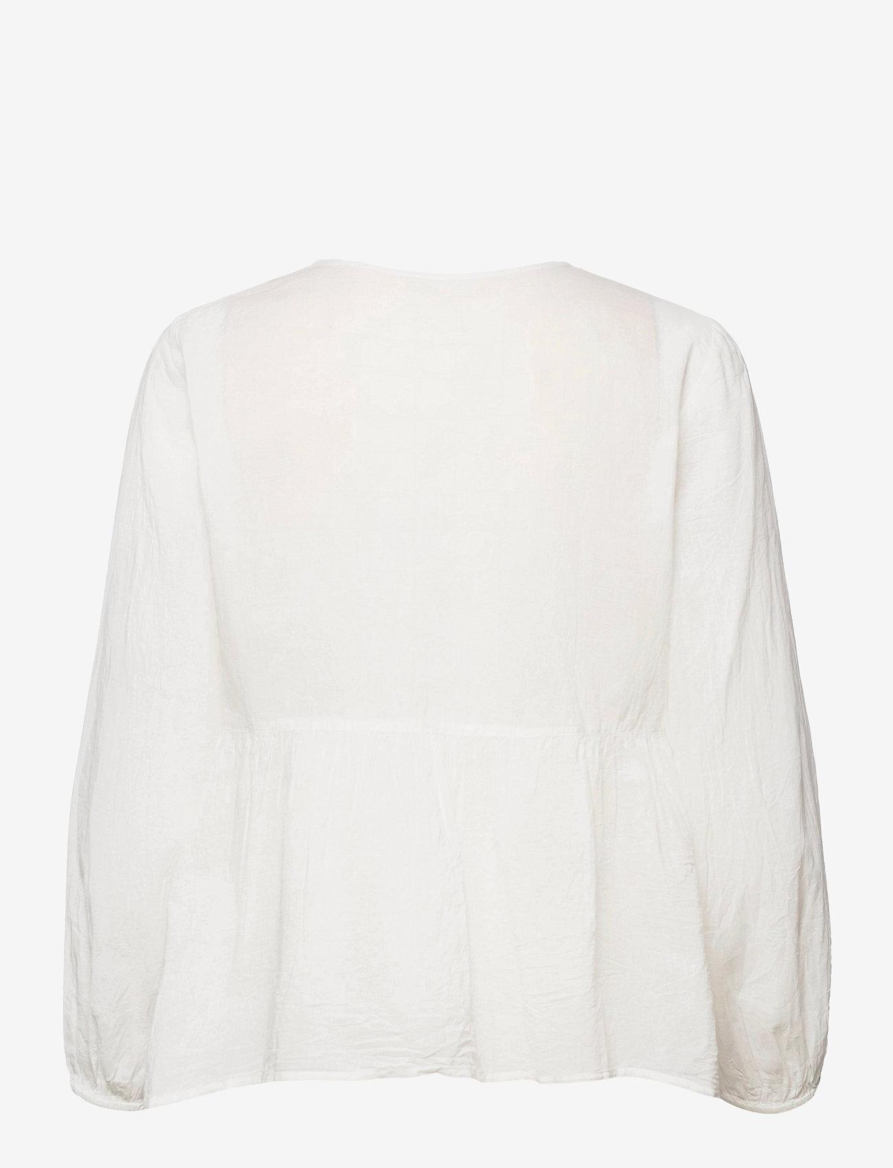 ODD MOLLY - Kayla Blouse - long sleeved blouses - light chalk - 2