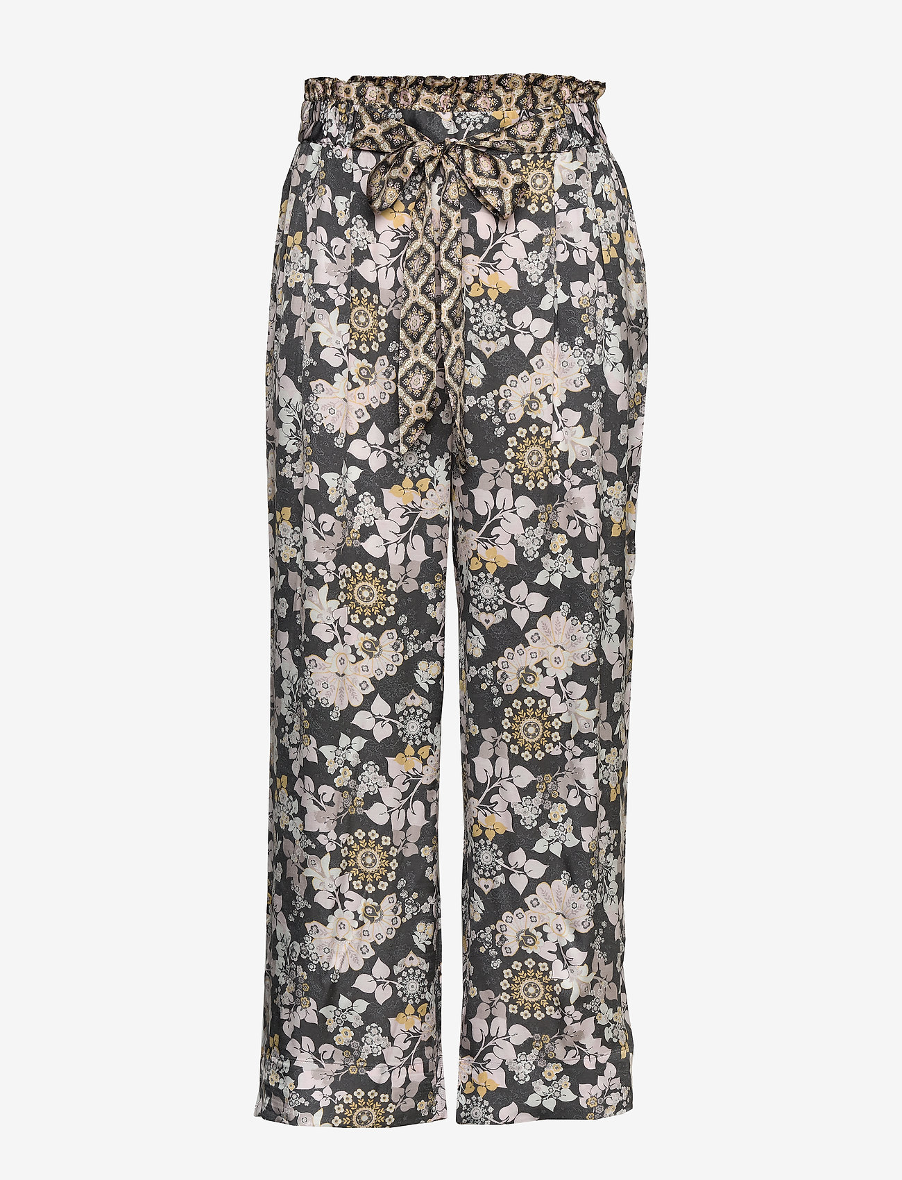 ODD MOLLY - Pretty Printed Pants - pantalons larges - asphalt - 0