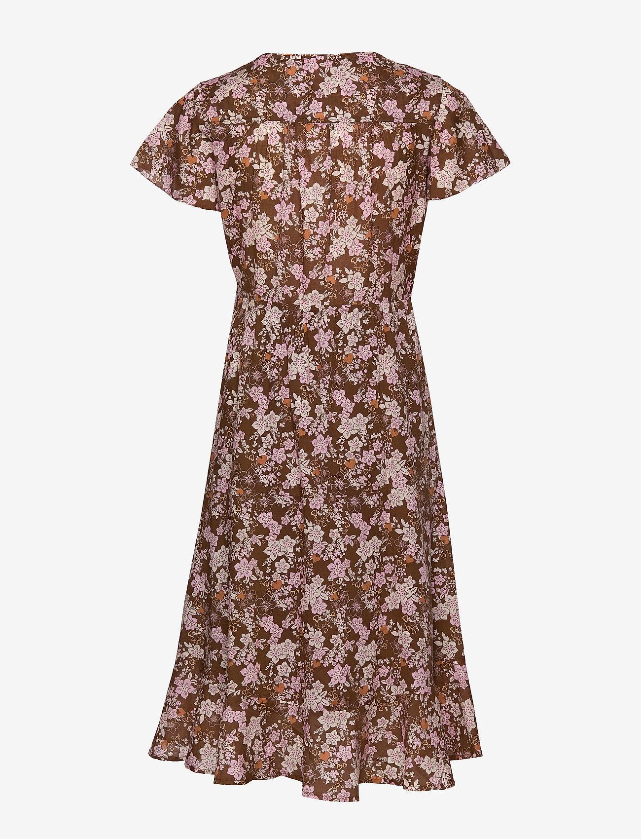 ODD MOLLY - Memorable Dress - midi kjoler - brown harmony - 1