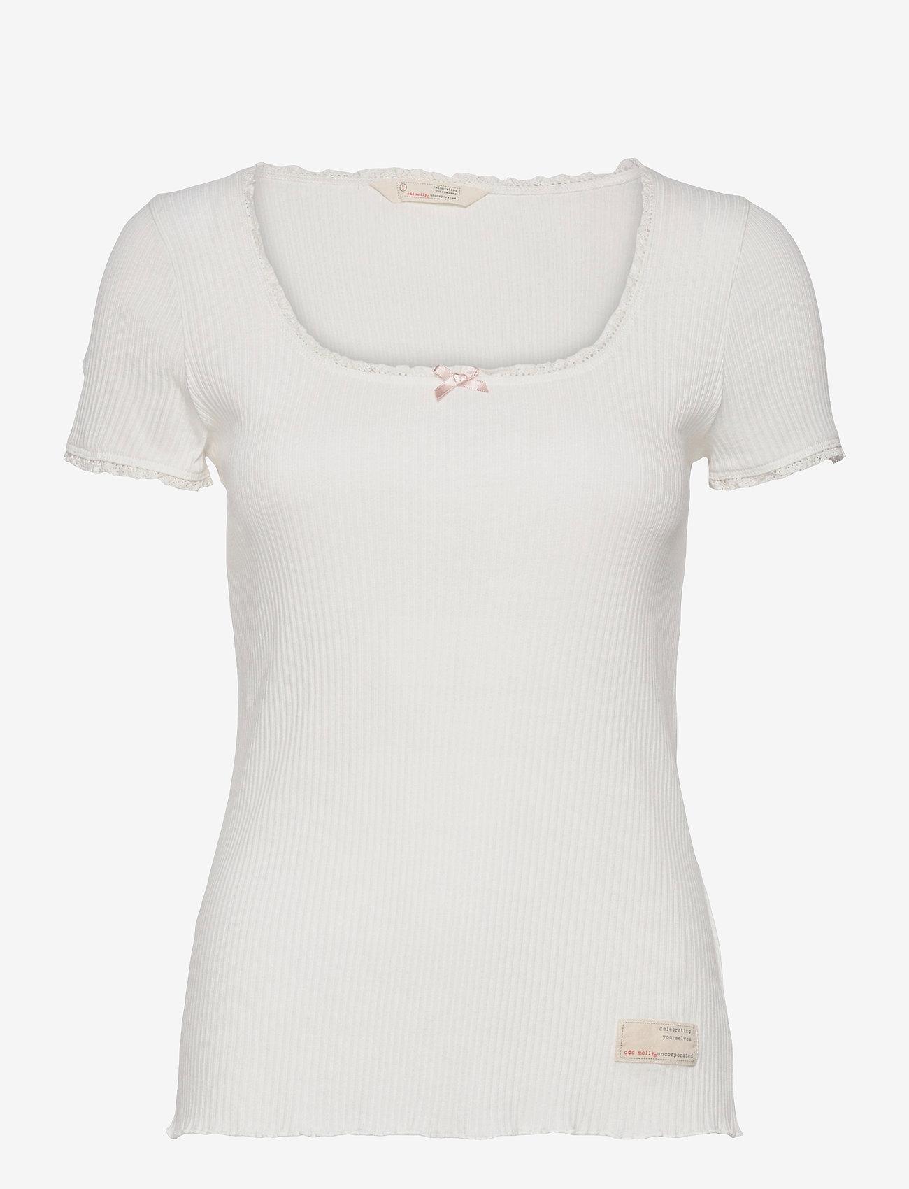 ODD MOLLY - Magda Top - t-shirts - light chalk - 1
