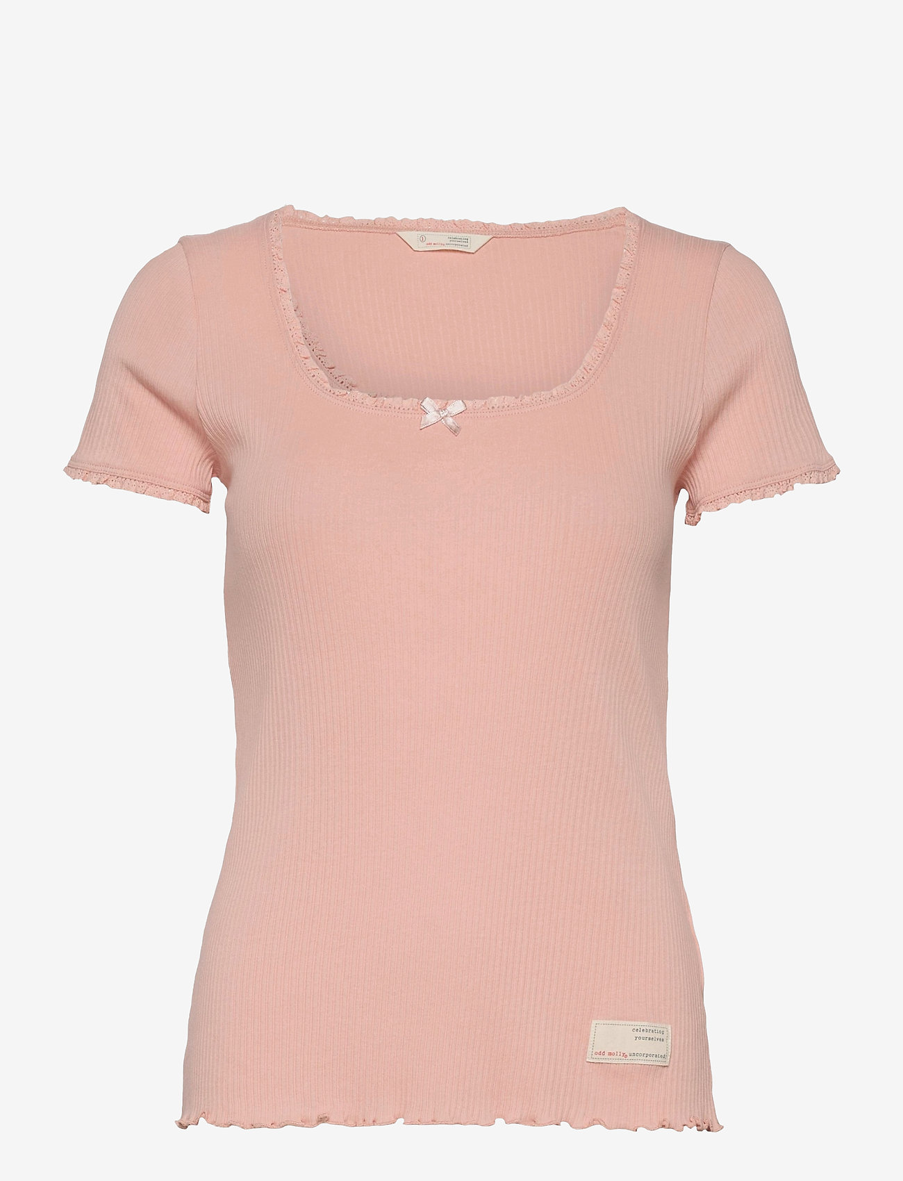 ODD MOLLY - Magda Top - t-shirts - pink conch - 1
