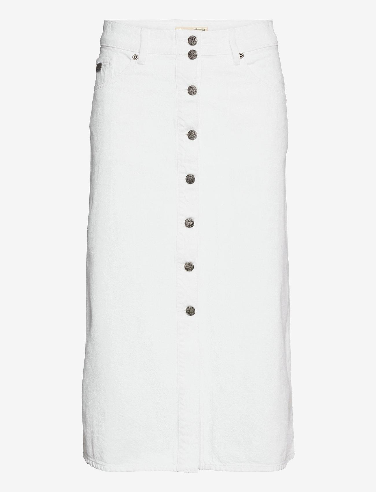 ODD MOLLY - Ivy Twill Skirt - denimnederdele - offwhite - 1