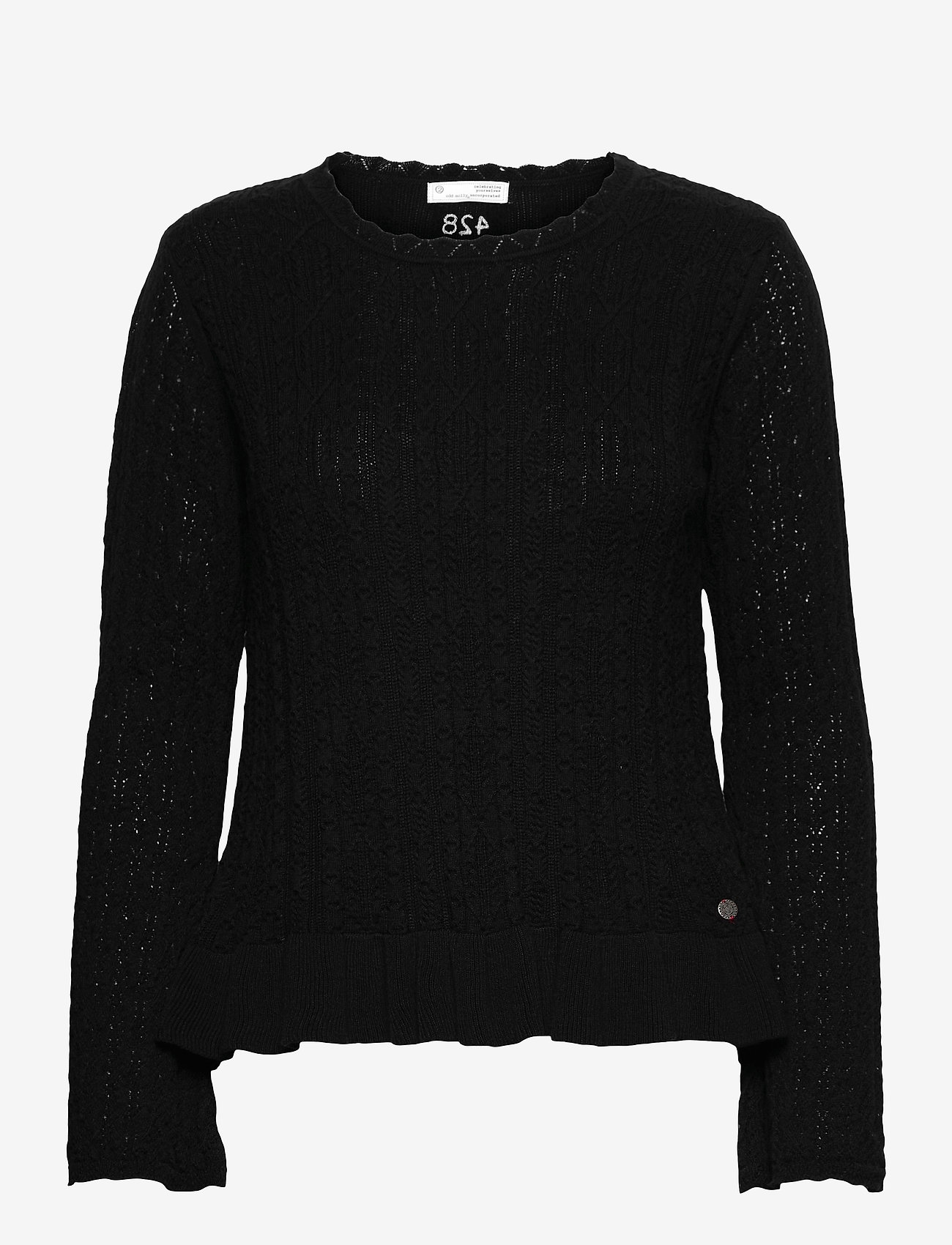 ODD MOLLY - Laura Sweater - sweaters - black - 1