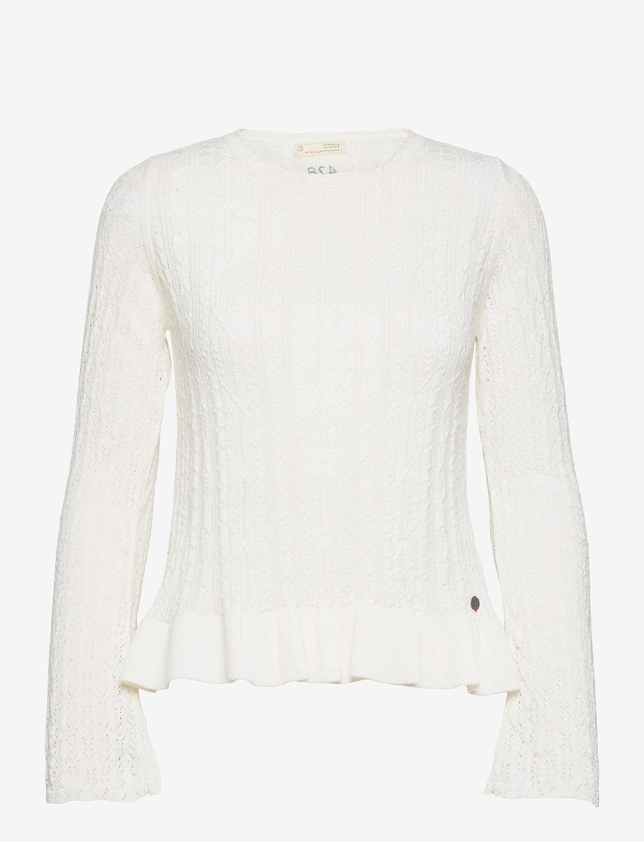 ODD MOLLY - Laura Sweater - sweaters - light chalk - 1