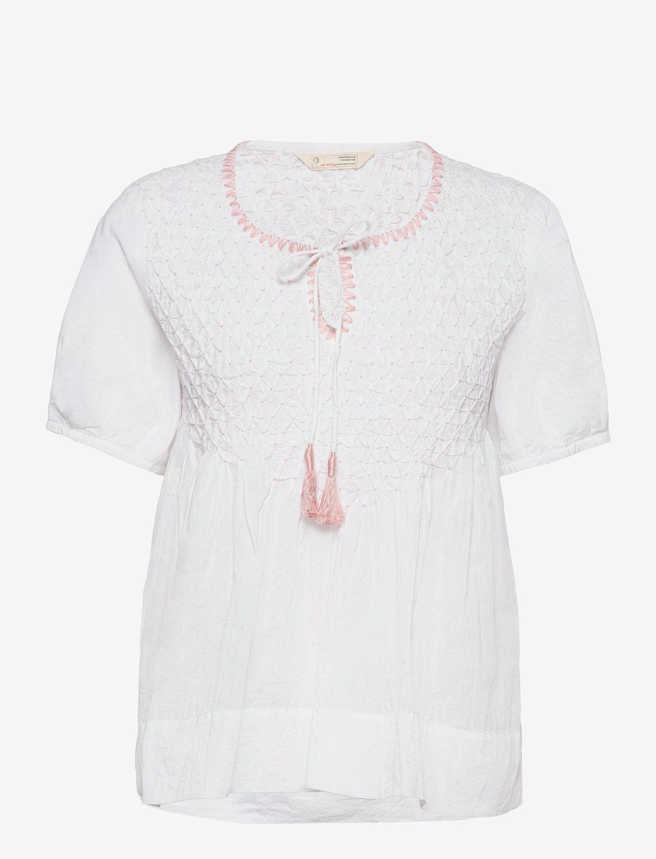 ODD MOLLY - Darya Blouse - kortærmede bluser - bright white - 1