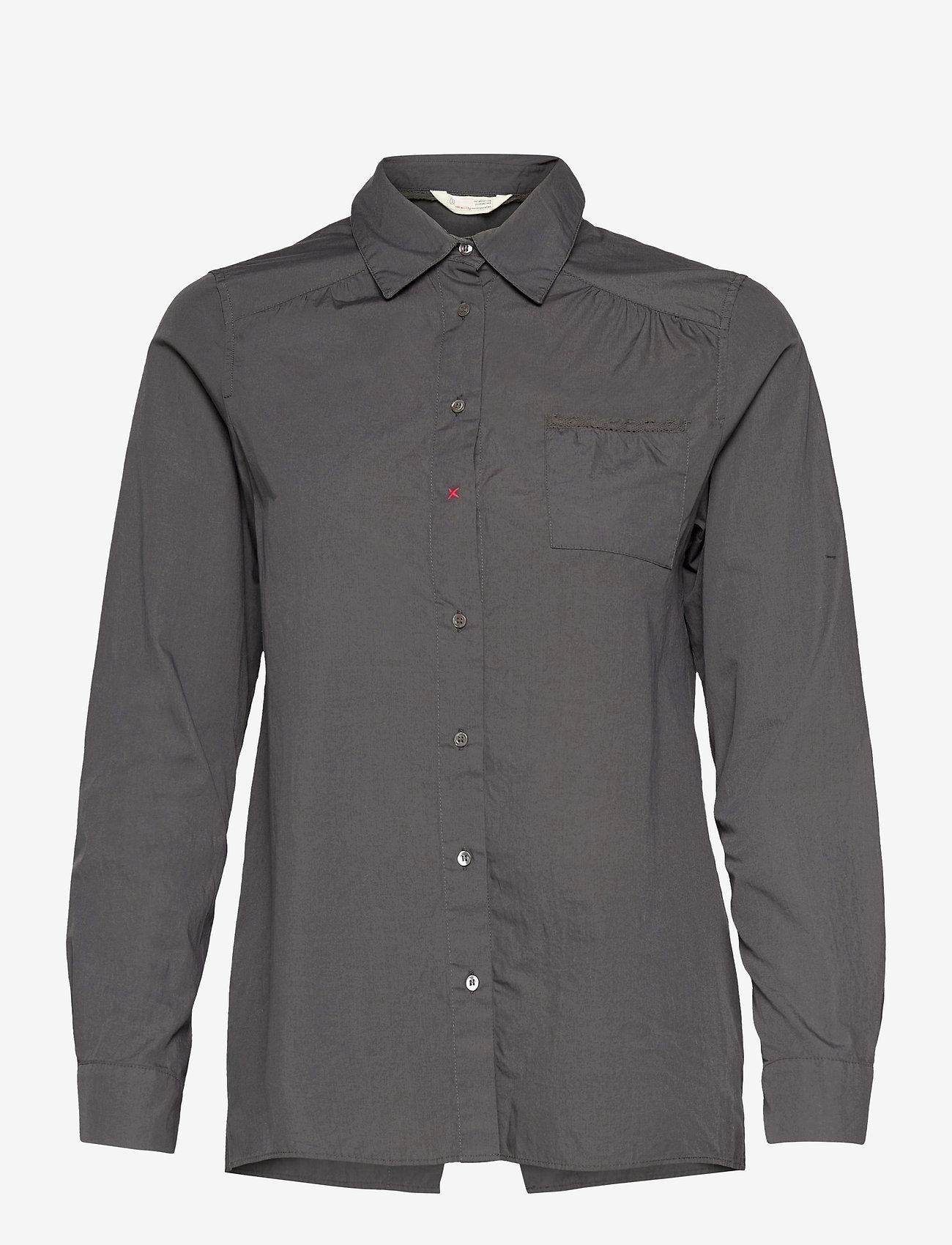 ODD MOLLY - Willow Shirt - long-sleeved shirts - asphalt - 1