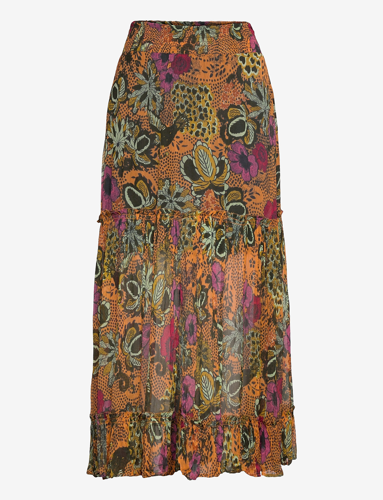 ODD MOLLY - Flora Skirt - maxi nederdele - apricot tan - 1
