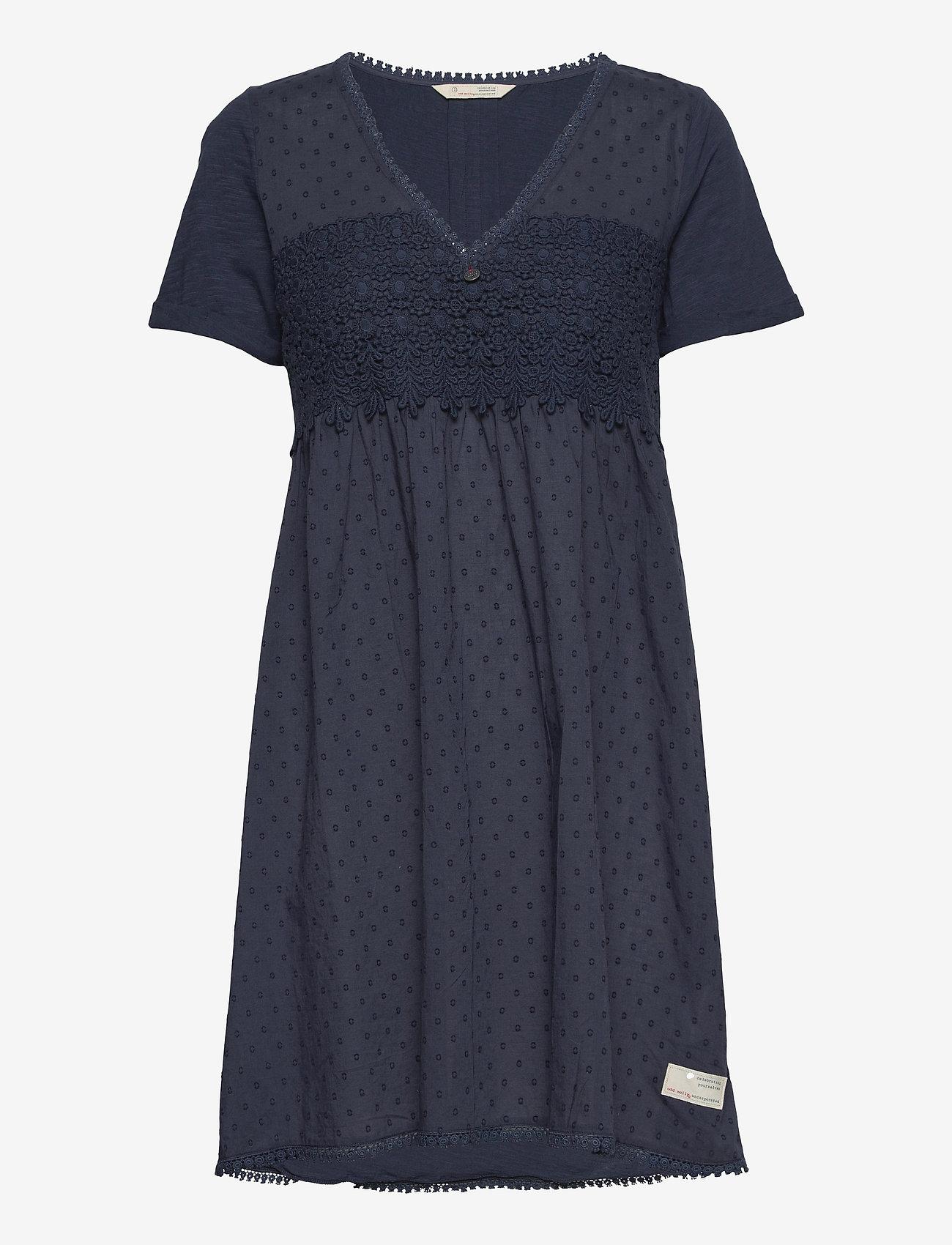ODD MOLLY - Finest Embroidery Dress - sommerkjoler - dark blue - 1