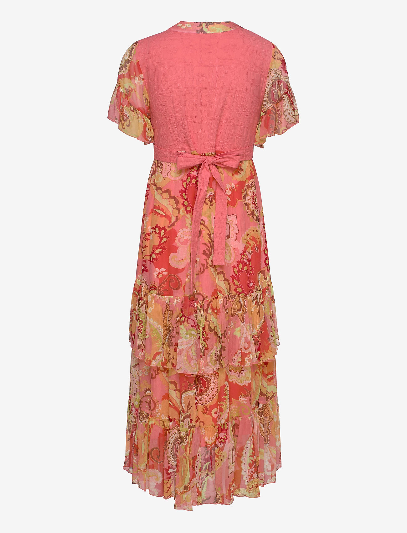 ODD MOLLY - Positano Long Dress - aftenkjoler - spiced coral - 1
