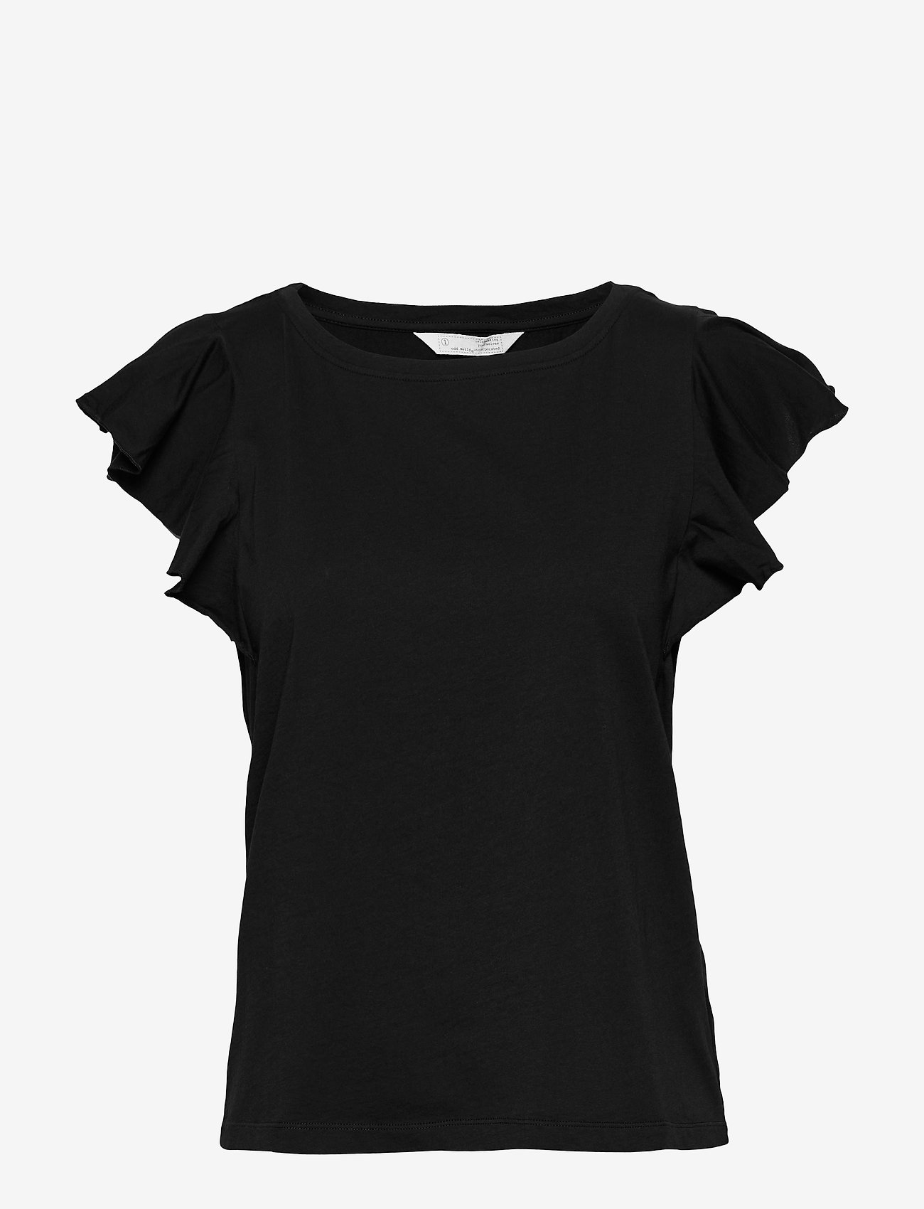 ODD MOLLY - Naples Top - basic t-shirts - almost black