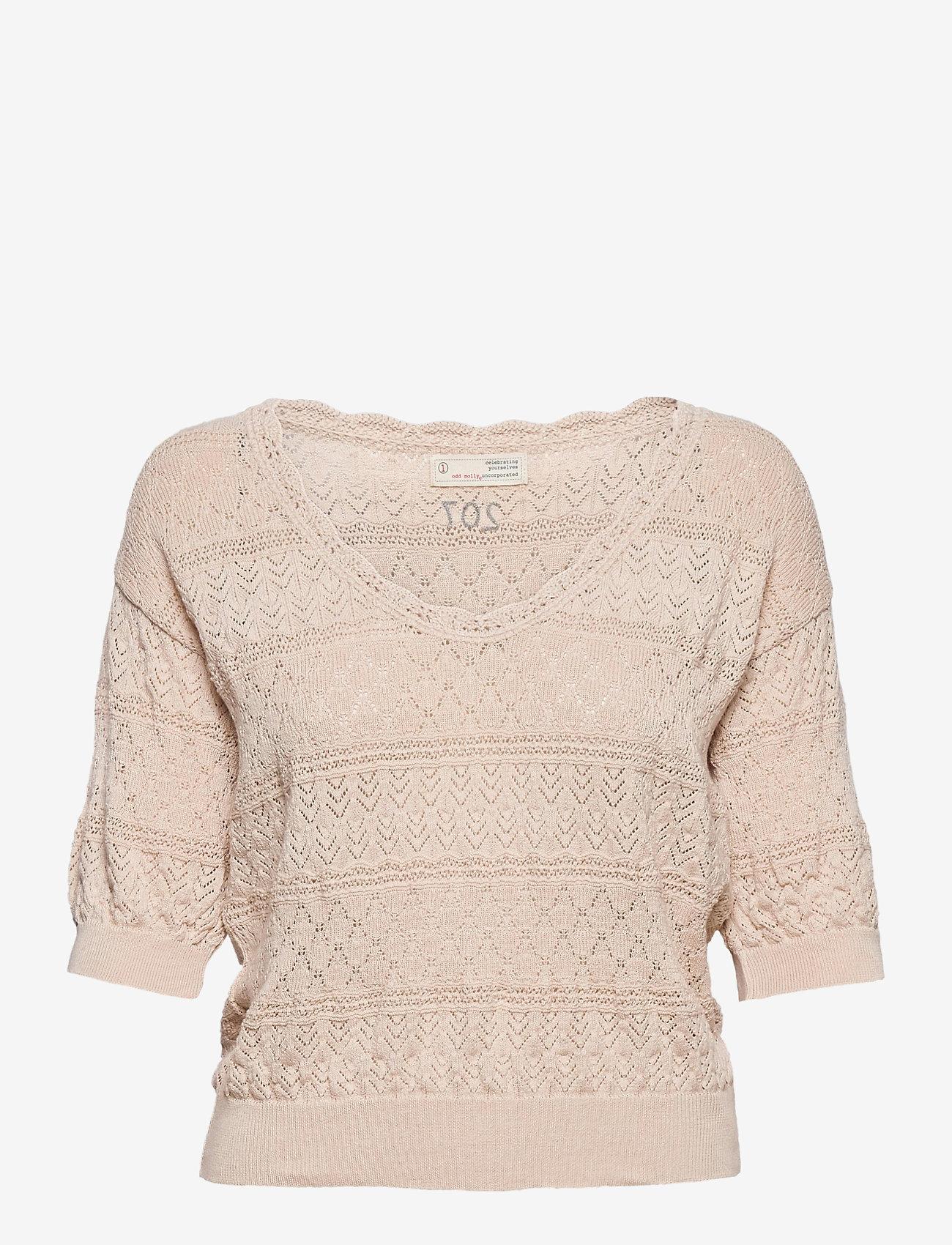 ODD MOLLY - Lucky Charm Sweater - hauts tricotés - light porcelain - 0