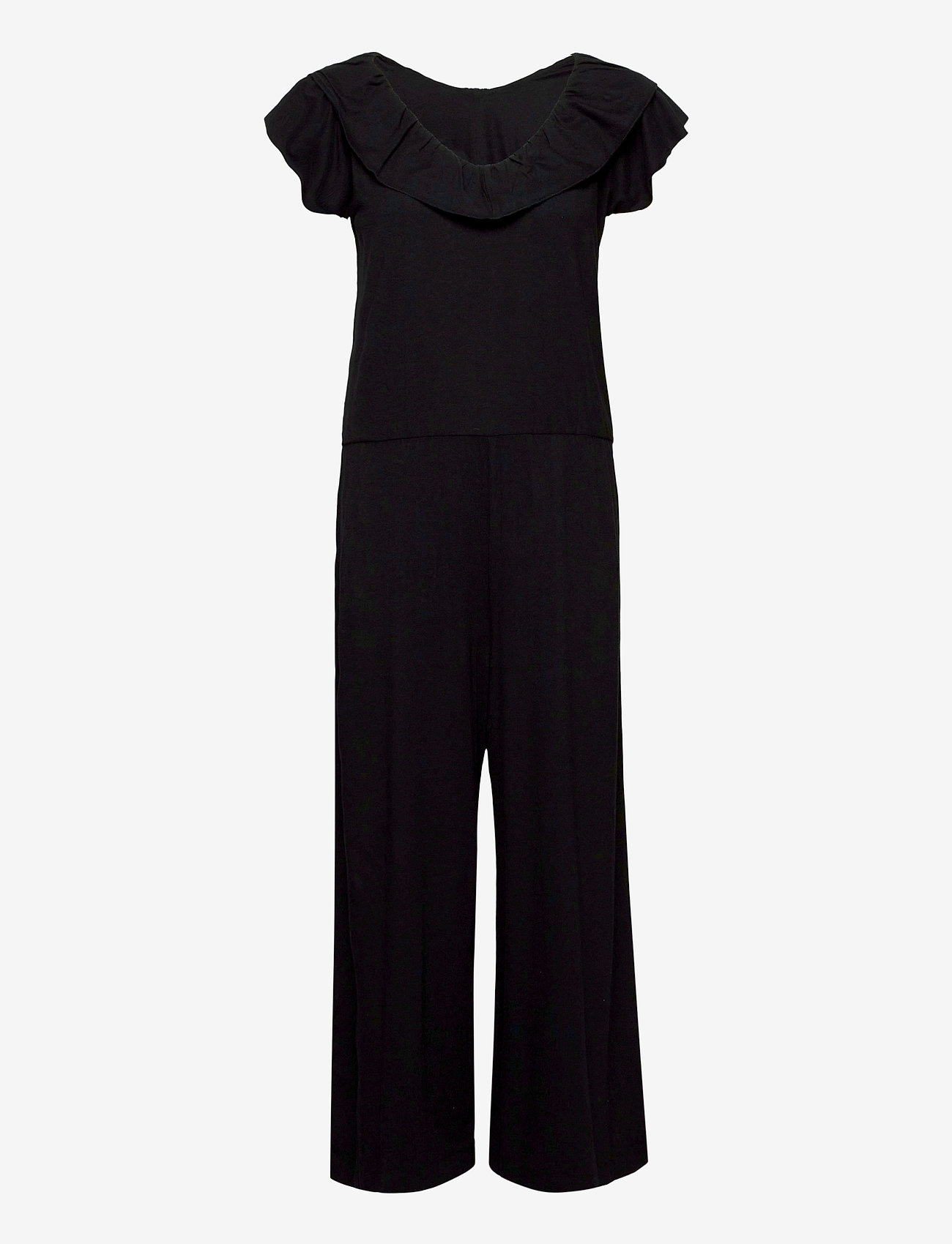 ODD MOLLY - Frill Up Jumpsuit - jumpsuits - almost black - 0