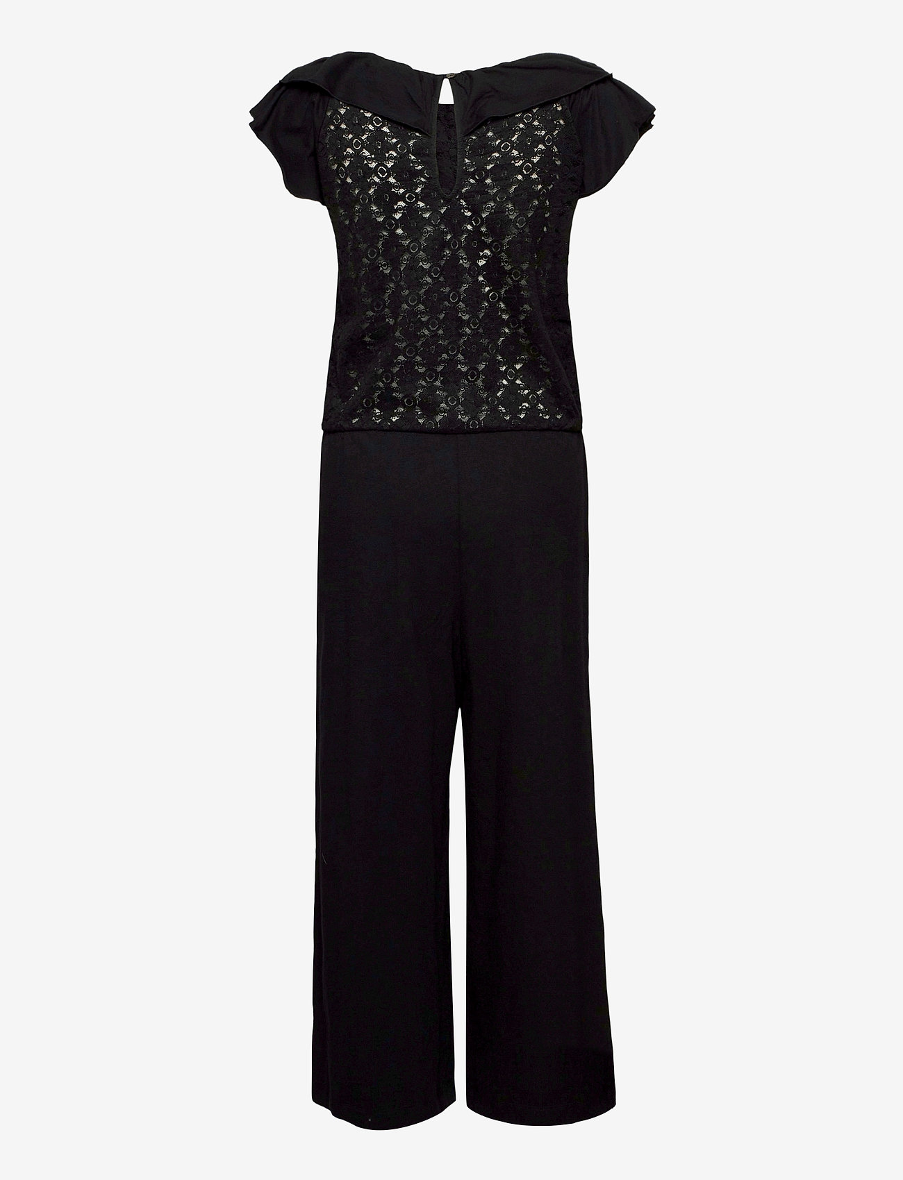 ODD MOLLY - Frill Up Jumpsuit - jumpsuits - almost black - 1