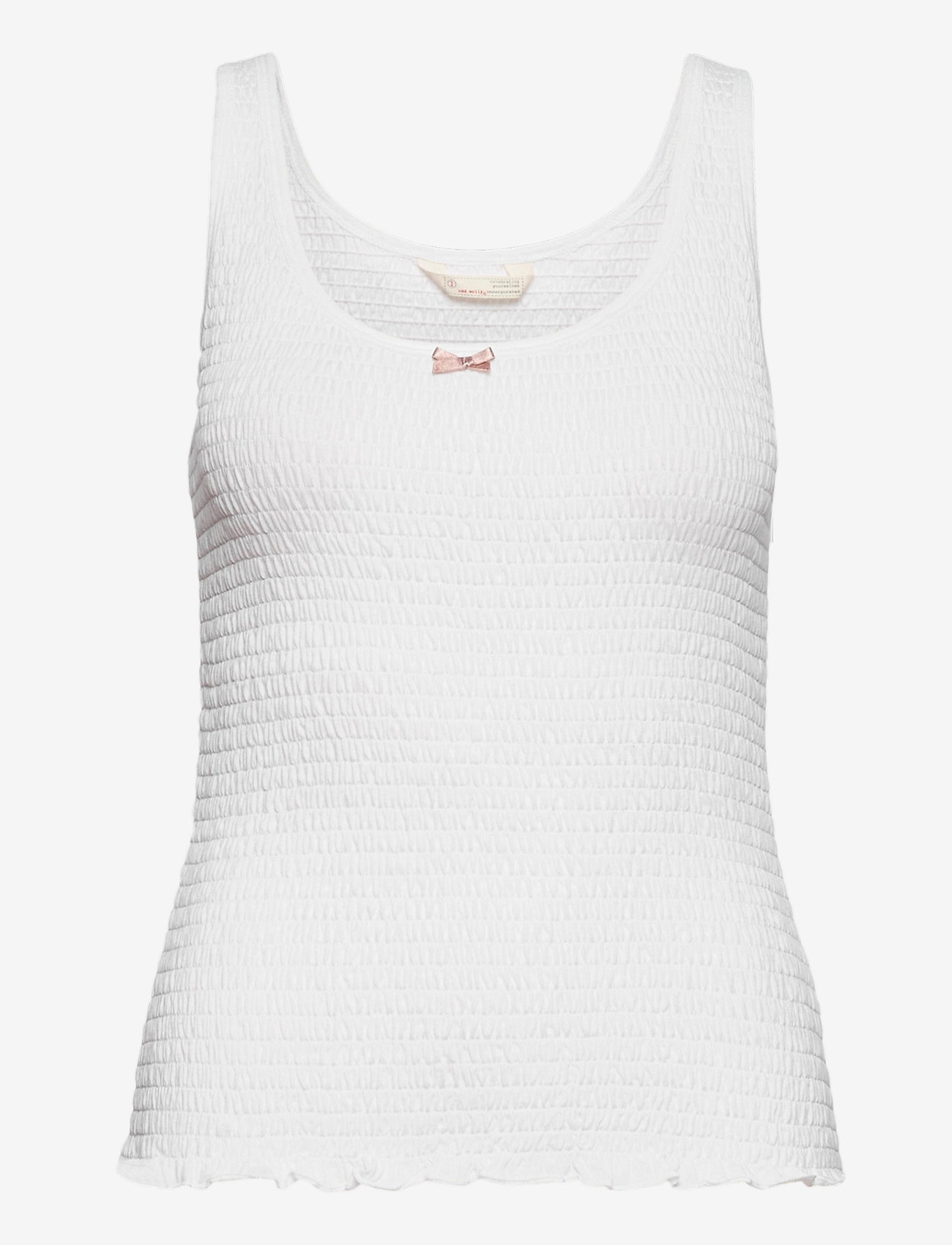 ODD MOLLY - Alluring Smock Top - hauts sans manches - bright white - 0