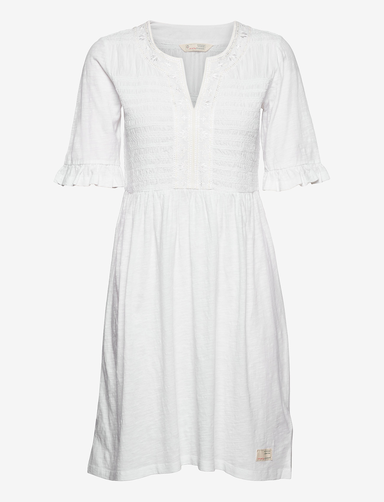 ODD MOLLY - Expressive Move Dress - hverdagskjoler - bright white - 0