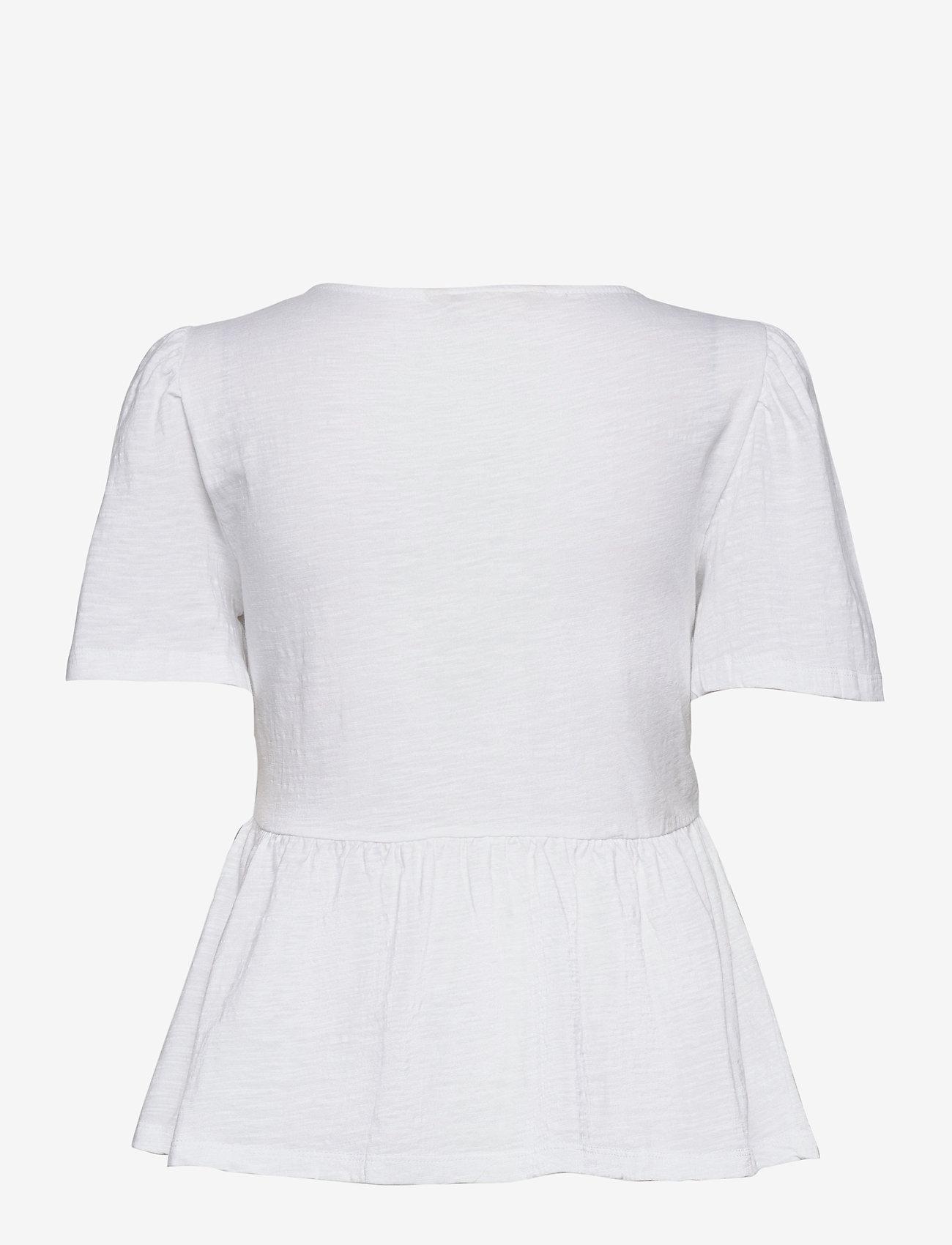 ODD MOLLY - Expressive Move Top - kortærmede bluser - bright white - 1