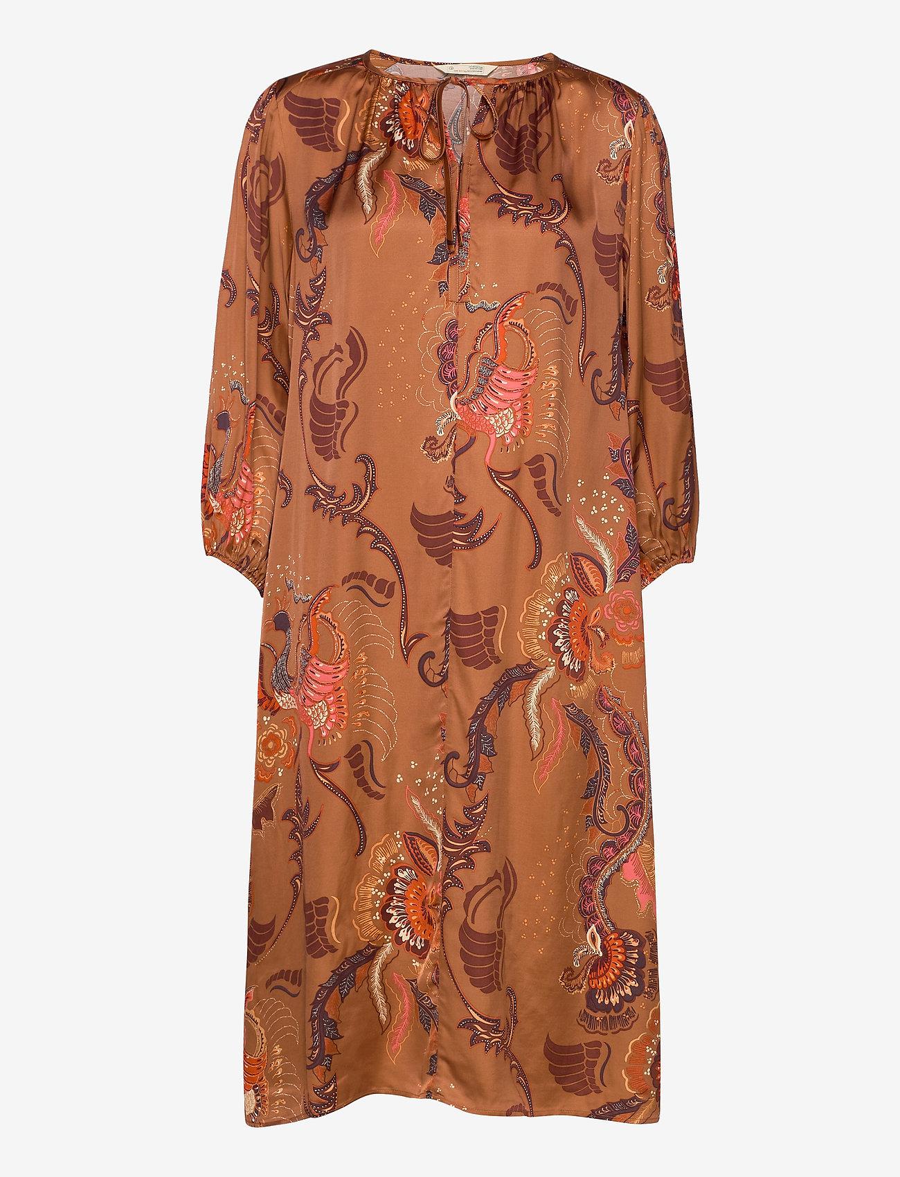 ODD MOLLY - Still Smiling Dress - midi kjoler - coconut brown - 0