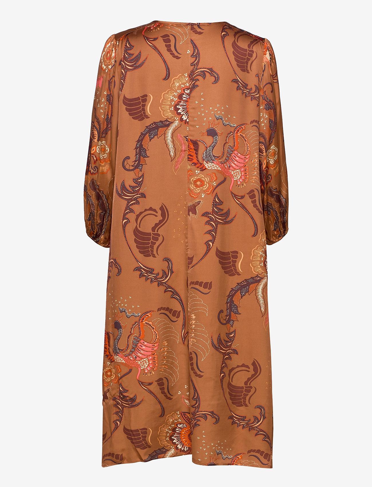 ODD MOLLY - Still Smiling Dress - midi kjoler - coconut brown - 1