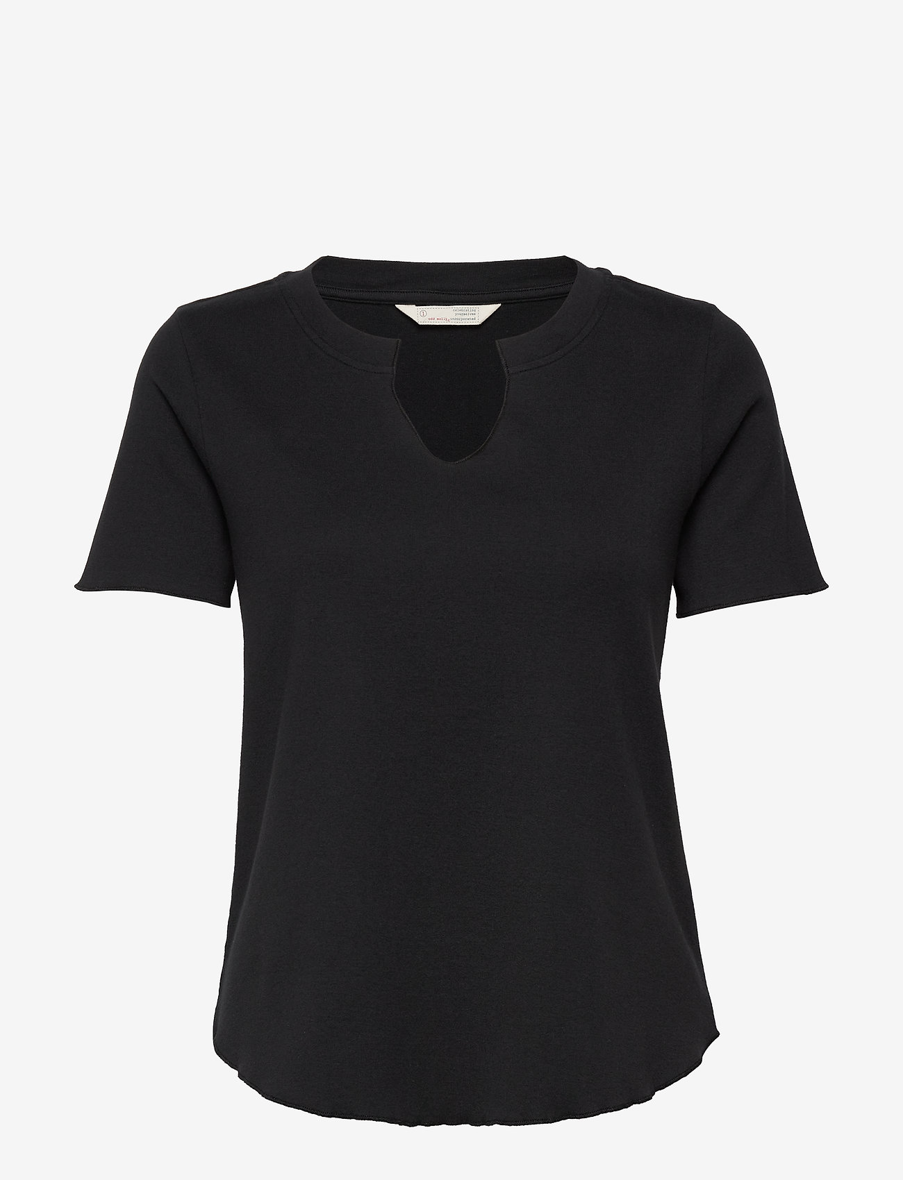 ODD MOLLY - Leia S/S Top - t-shirts - almost black