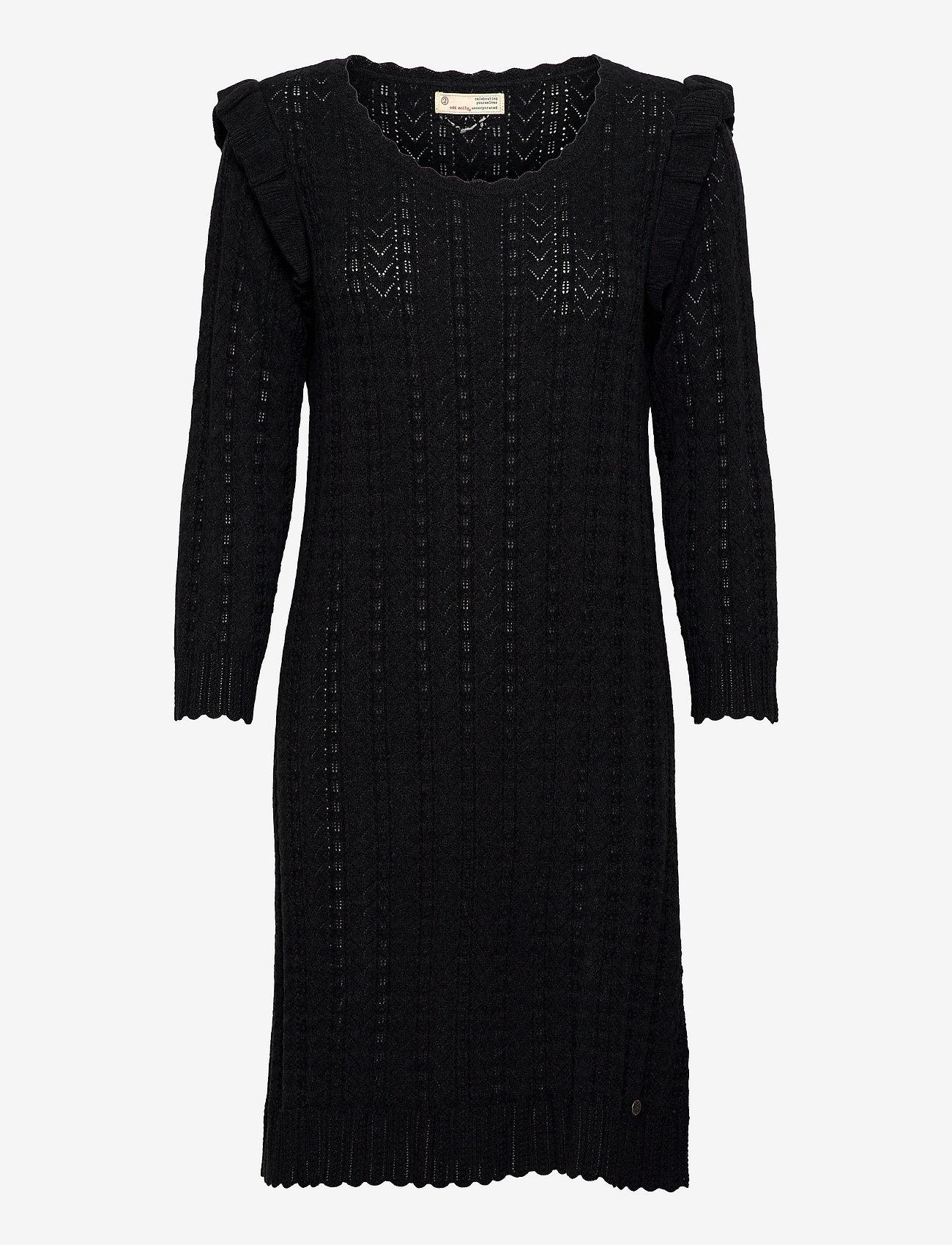 ODD MOLLY - Leslie Dress - hverdagskjoler - black - 1