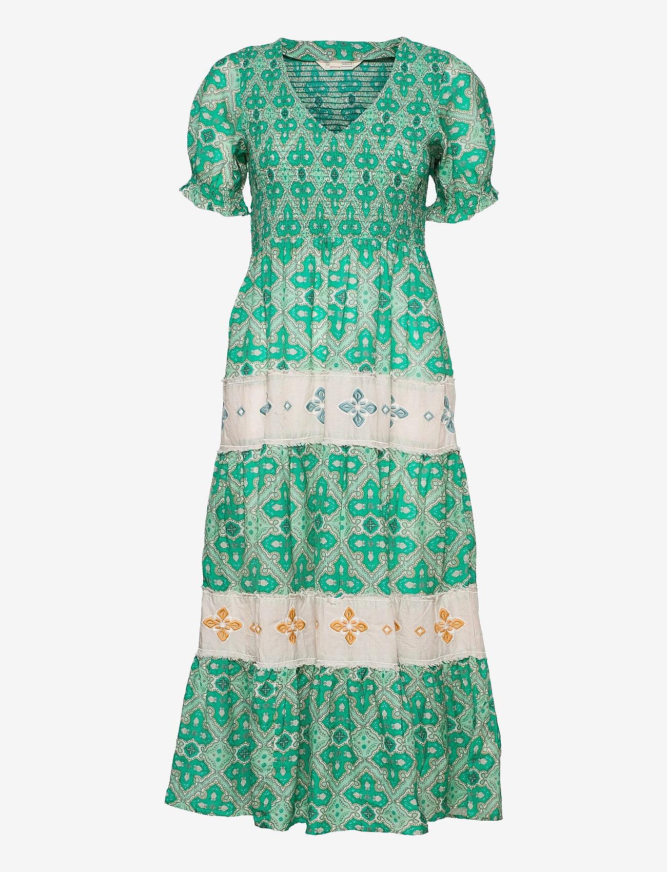 ODD MOLLY - Jovena Dress - sommerkjoler - sparkling green - 1