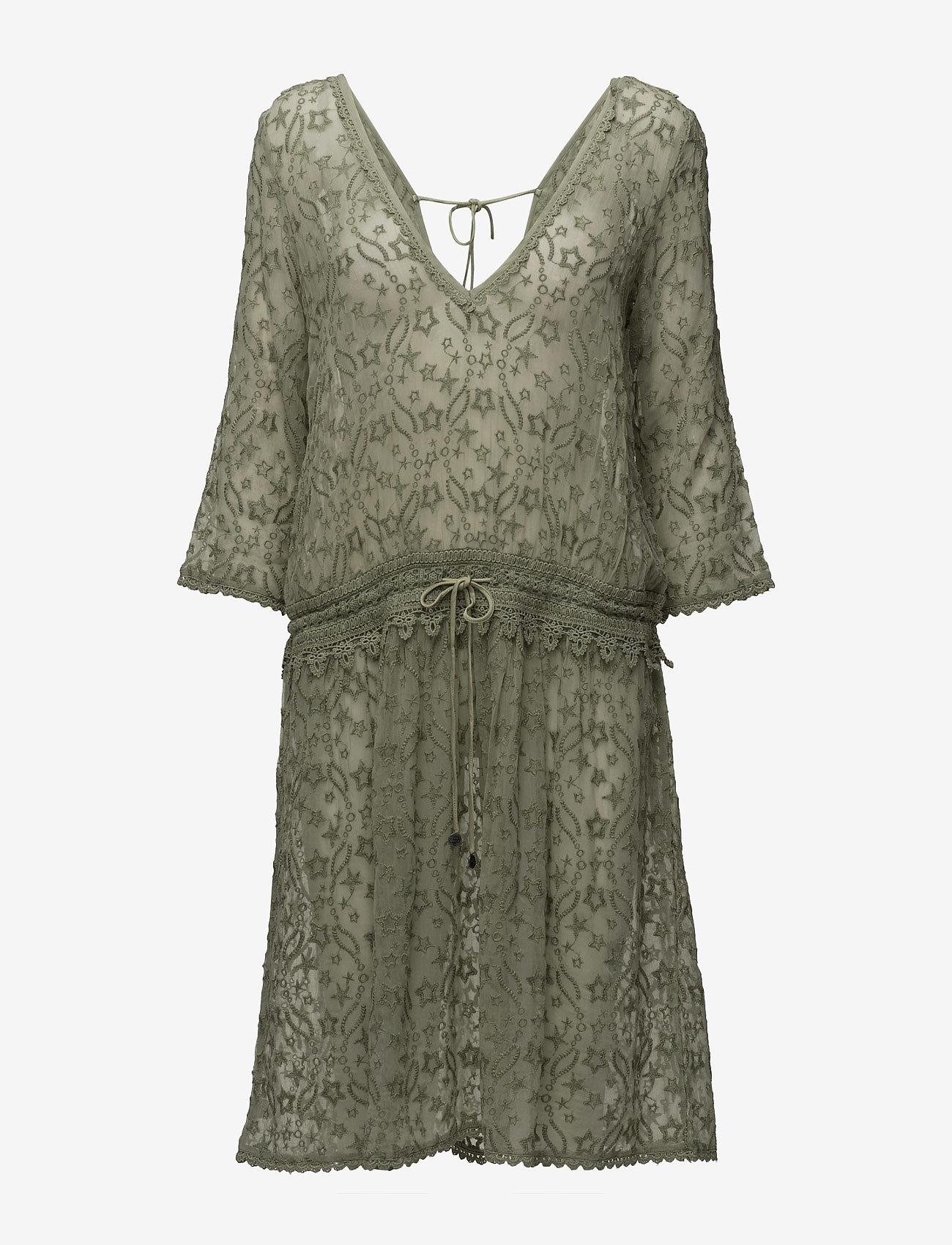 ODD MOLLY - recreation dress - midi kjoler - soft green - 0