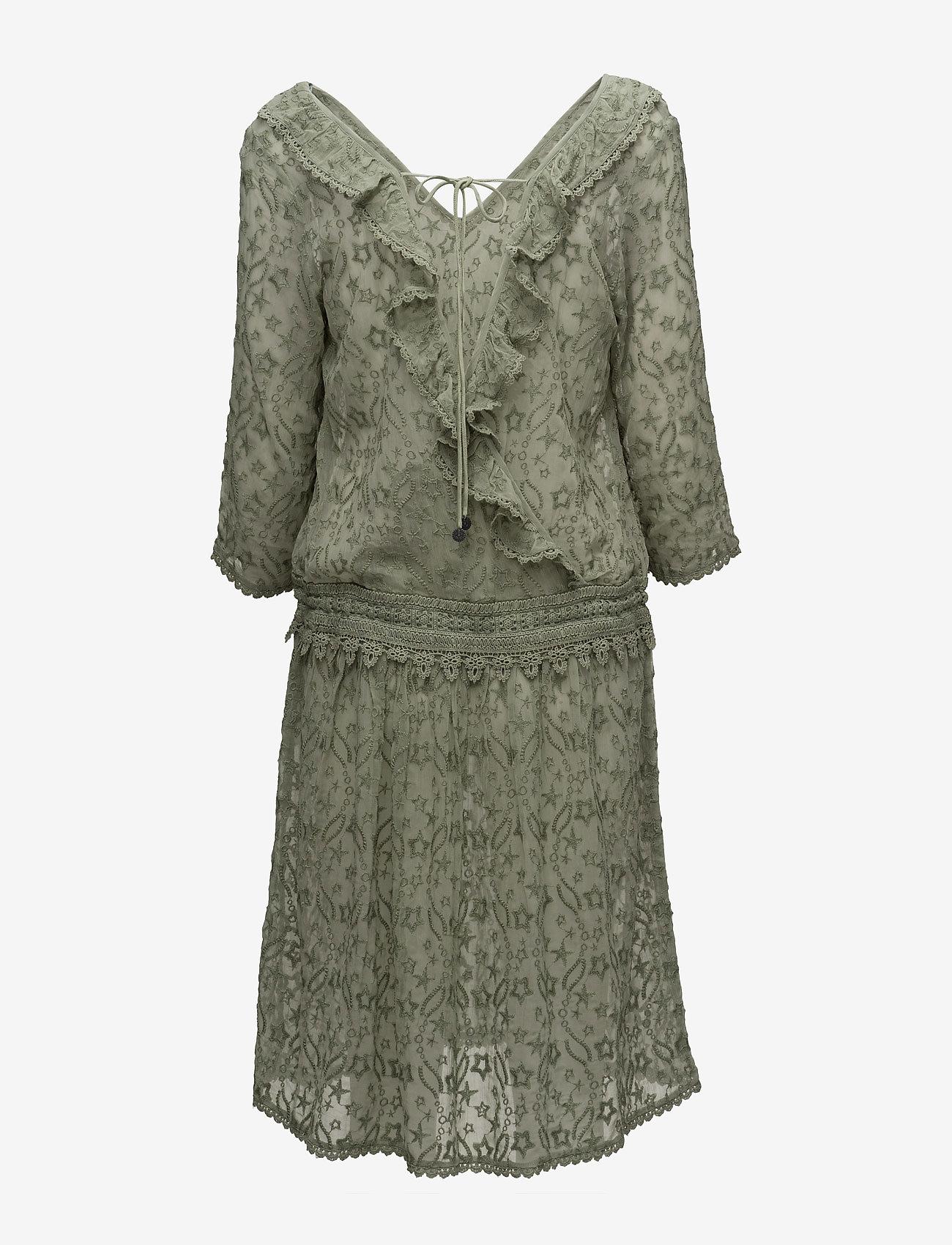 ODD MOLLY - recreation dress - midi kjoler - soft green - 1