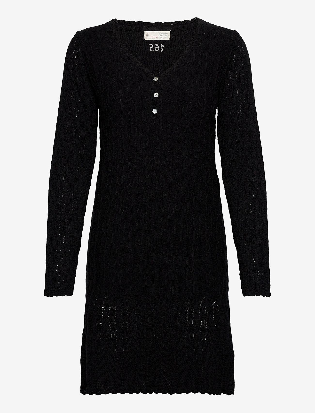 ODD MOLLY - Maureen Dress - hverdagskjoler - almost black - 1
