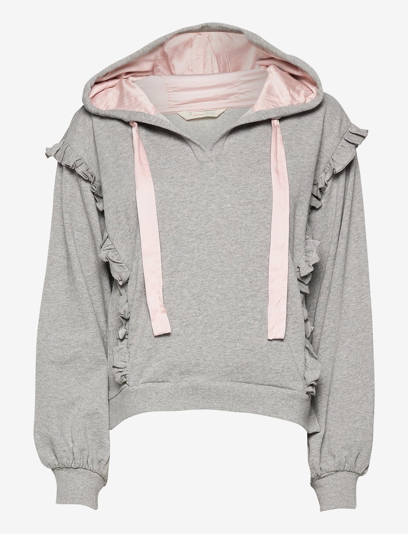 ODD MOLLY - Paulina Hood Sweater - pulls à capuche - light grey melange - 1