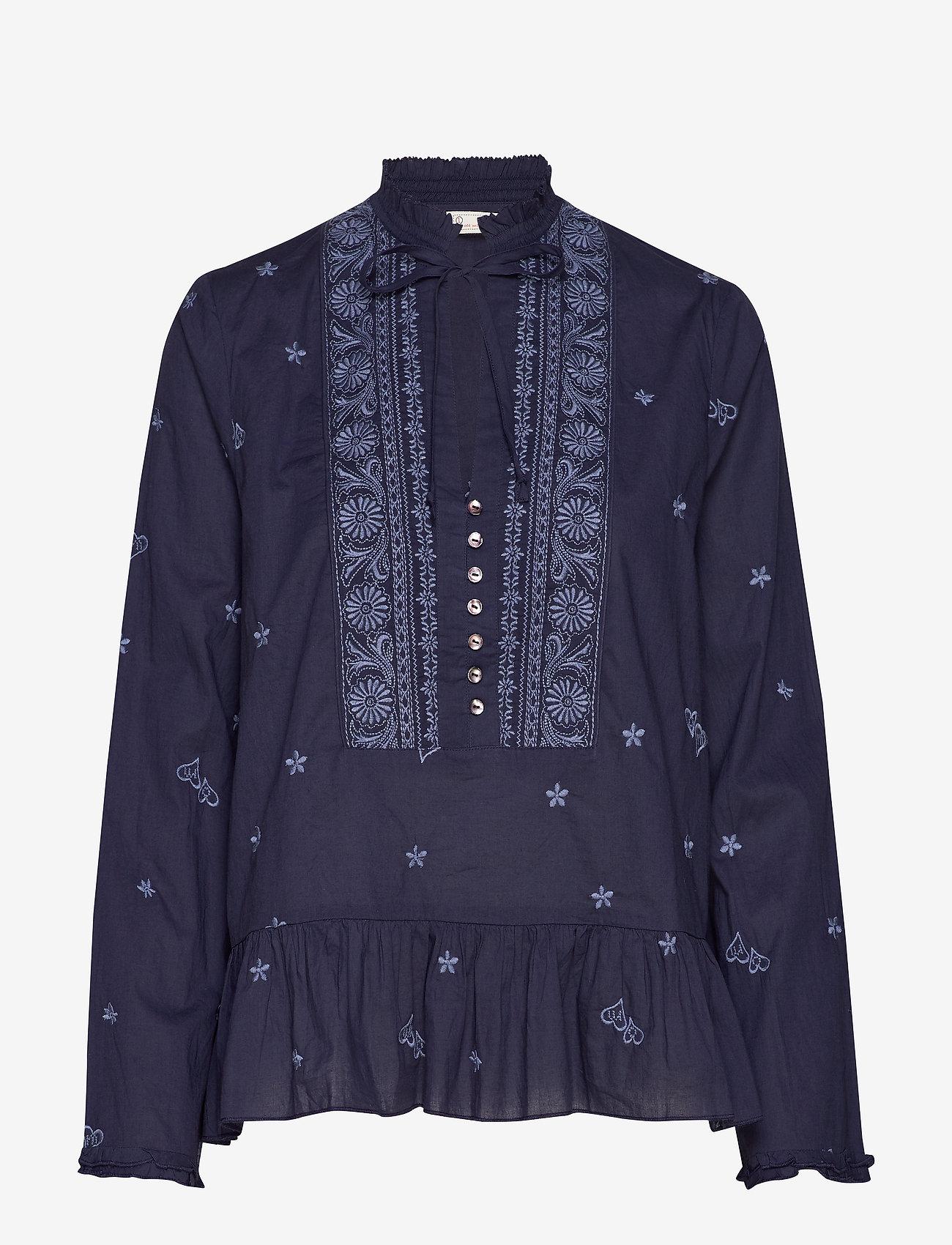 ODD MOLLY - Dance More Dances Blouse - blouses med lange mouwen - dark blue - 0