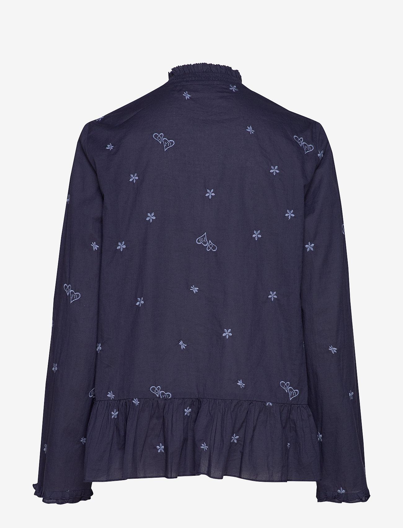 ODD MOLLY - Dance More Dances Blouse - blouses med lange mouwen - dark blue - 1
