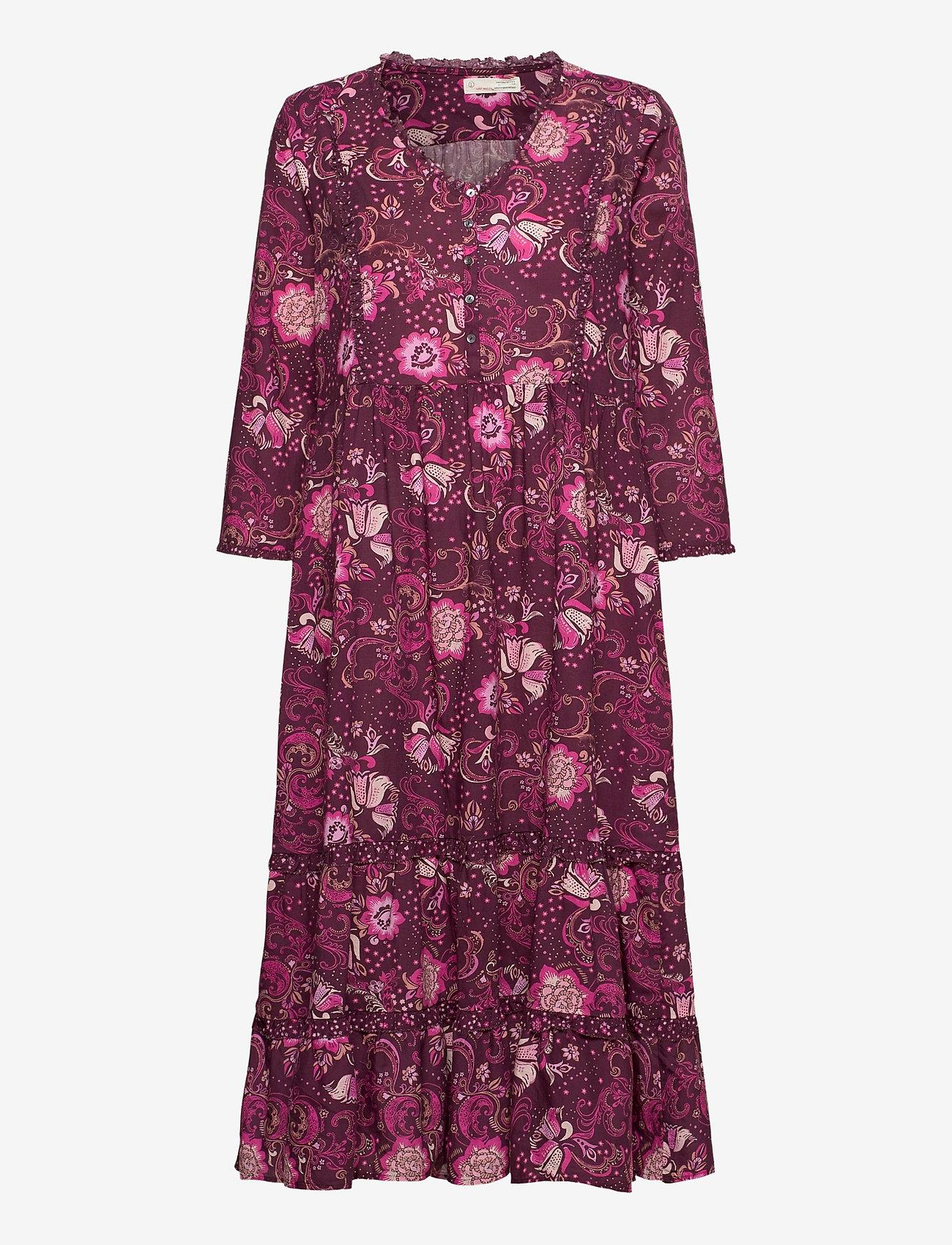 ODD MOLLY - Doreen Dress - midi kjoler - dark purple - 1