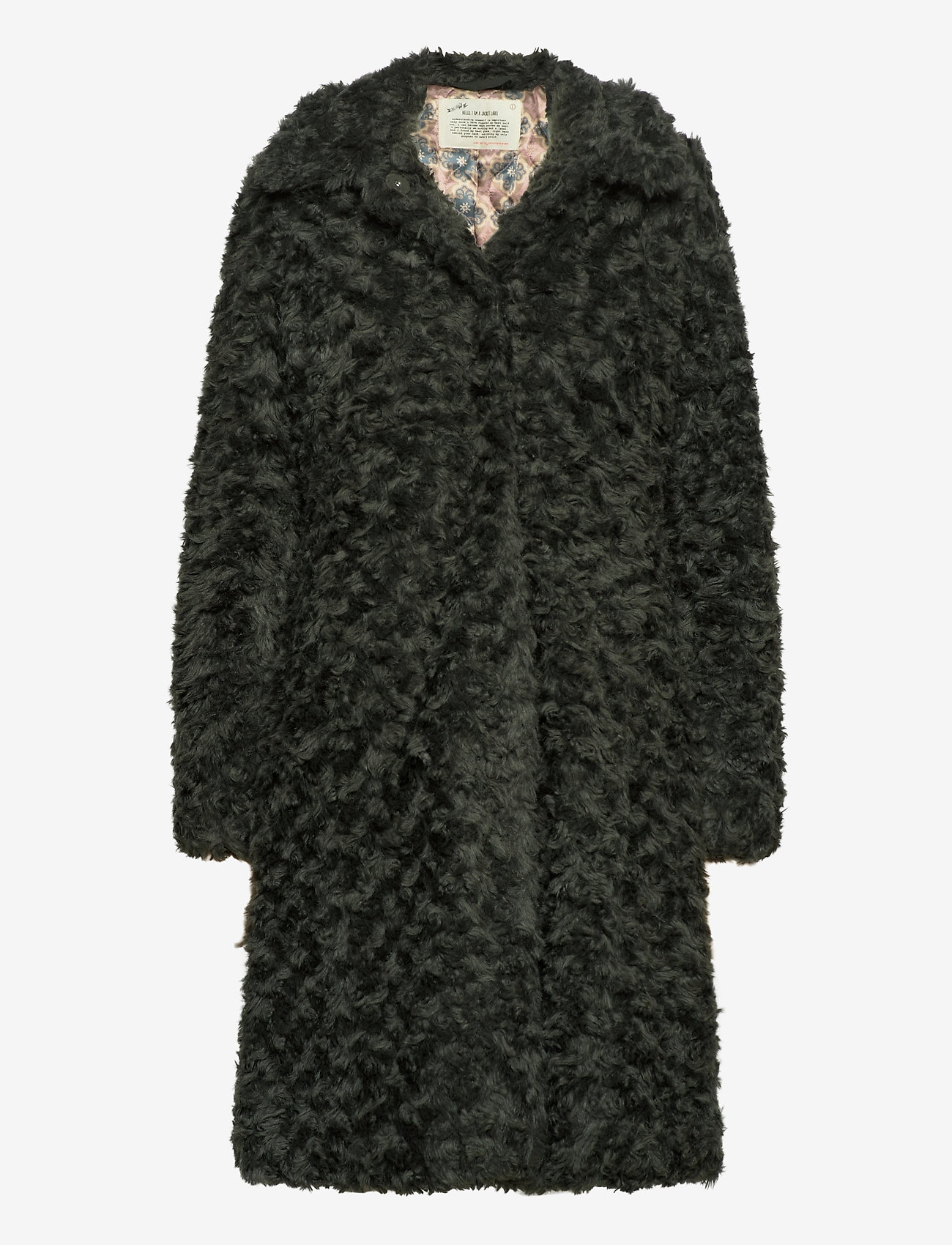 ODD MOLLY - Amandine Long Jacket - fausse fourrure - green asphalt - 1