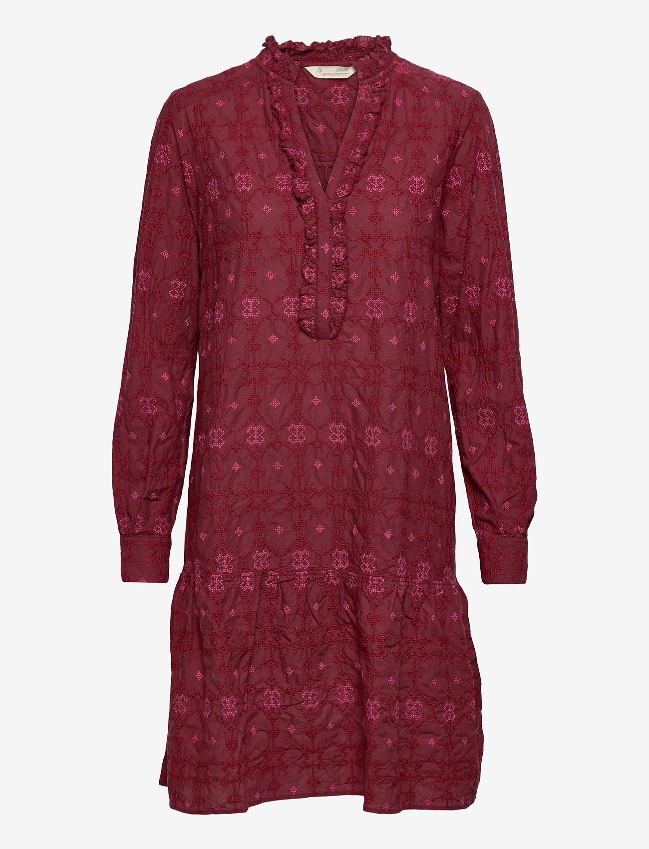 ODD MOLLY - Célia Dress - sommerkjoler - baked burgundy - 1