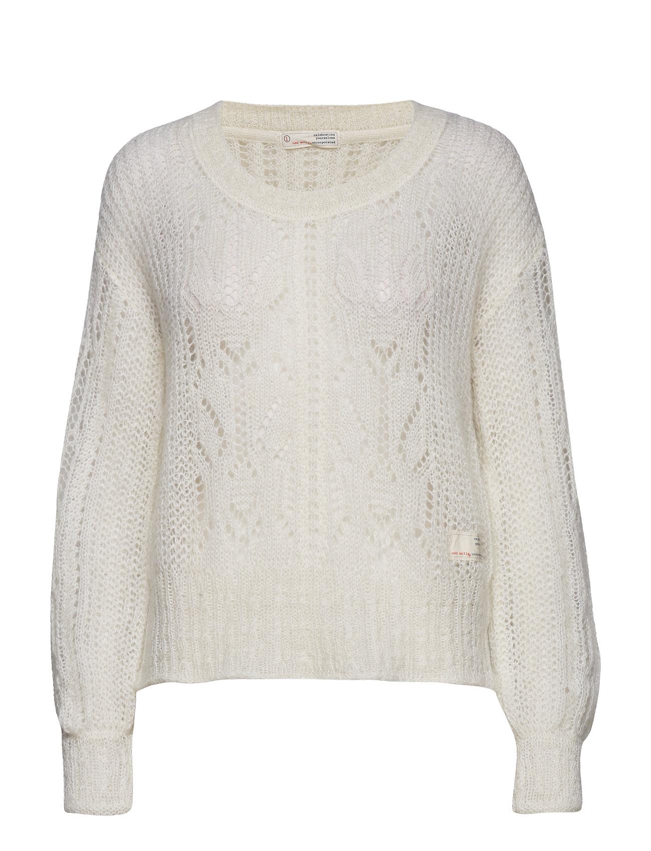 ODD MOLLY mystery fields sweater - LIGHT CHALK