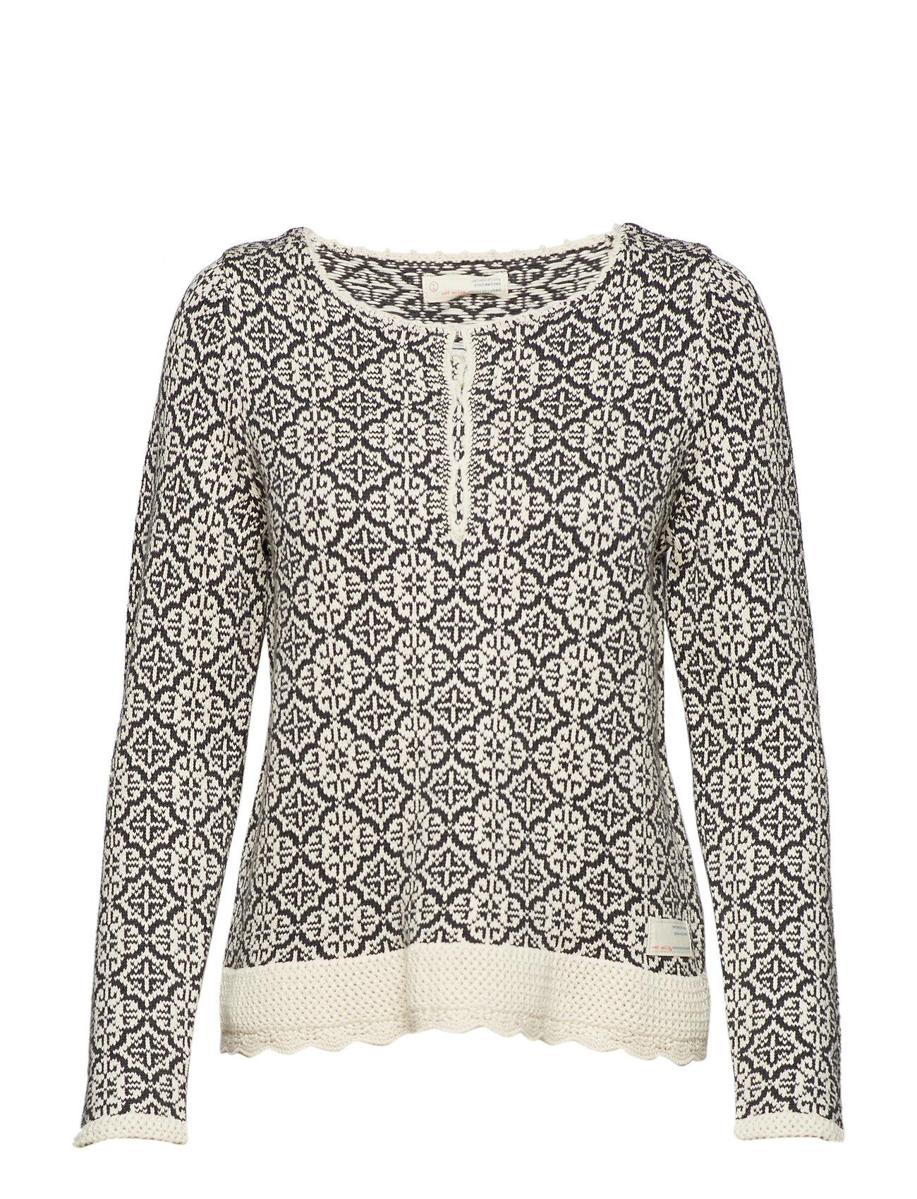 ODD MOLLY treasure tile sweater Ögrönlar