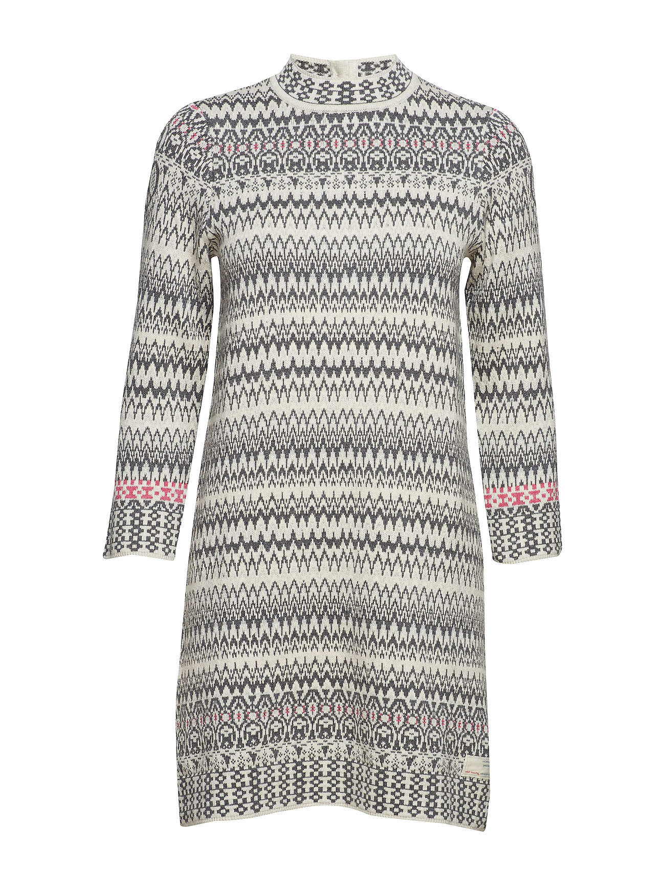 ODD MOLLY vivid vibration dress - CHALK