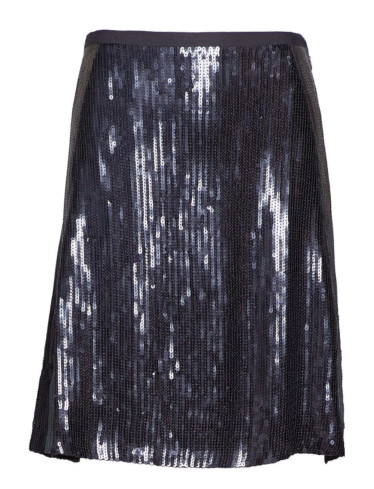 ODD MOLLY fast lane skirt - ALMOST BLACK